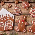 Christmas Gingerbread House And Gingerbread Men