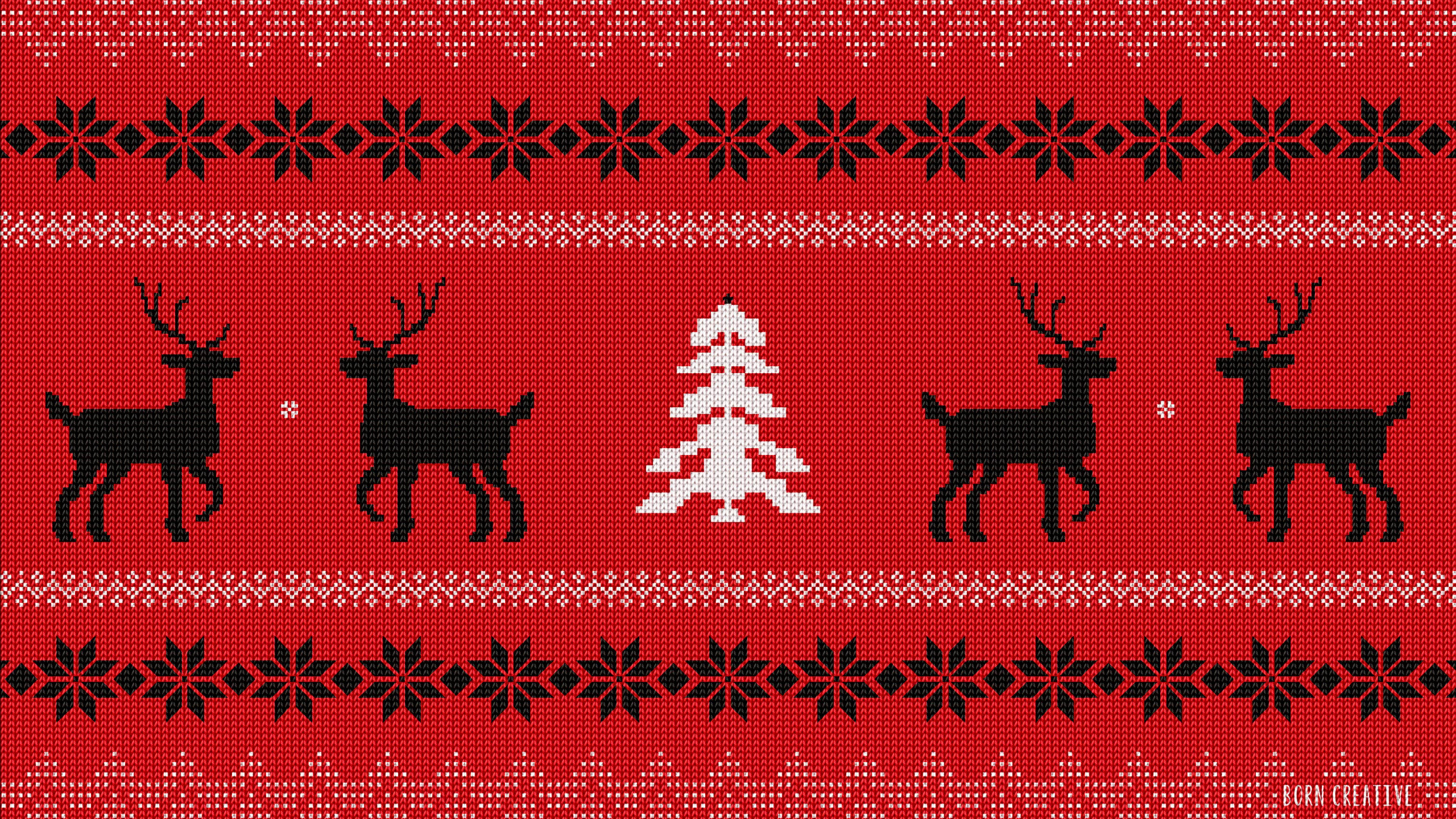 Christmas Sweater Pattern UHD 4K Wallpaper - Pixelz.cc