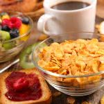 corn flakes toast and fruit breakfast uhd 4k wallpaper