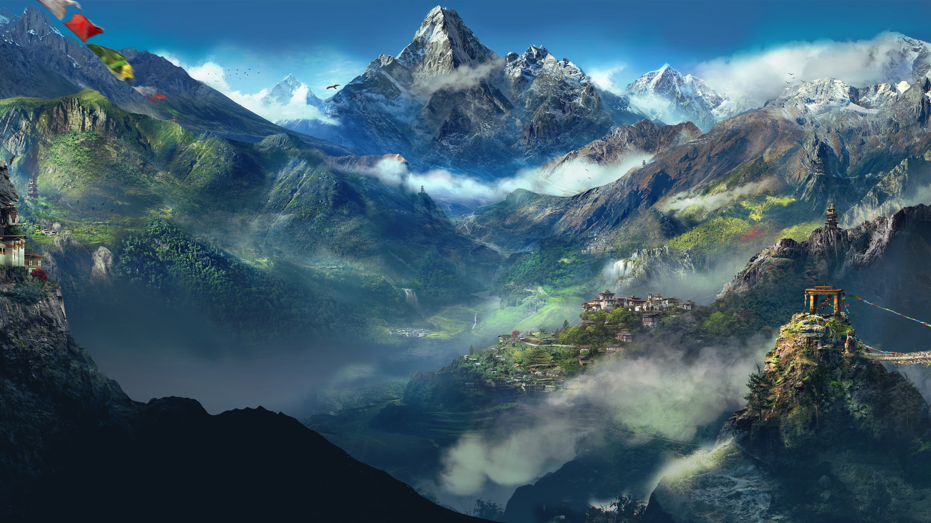 Far Cry 4 Kyrat Mountains Uhd 4k Wallpaper Pixelz