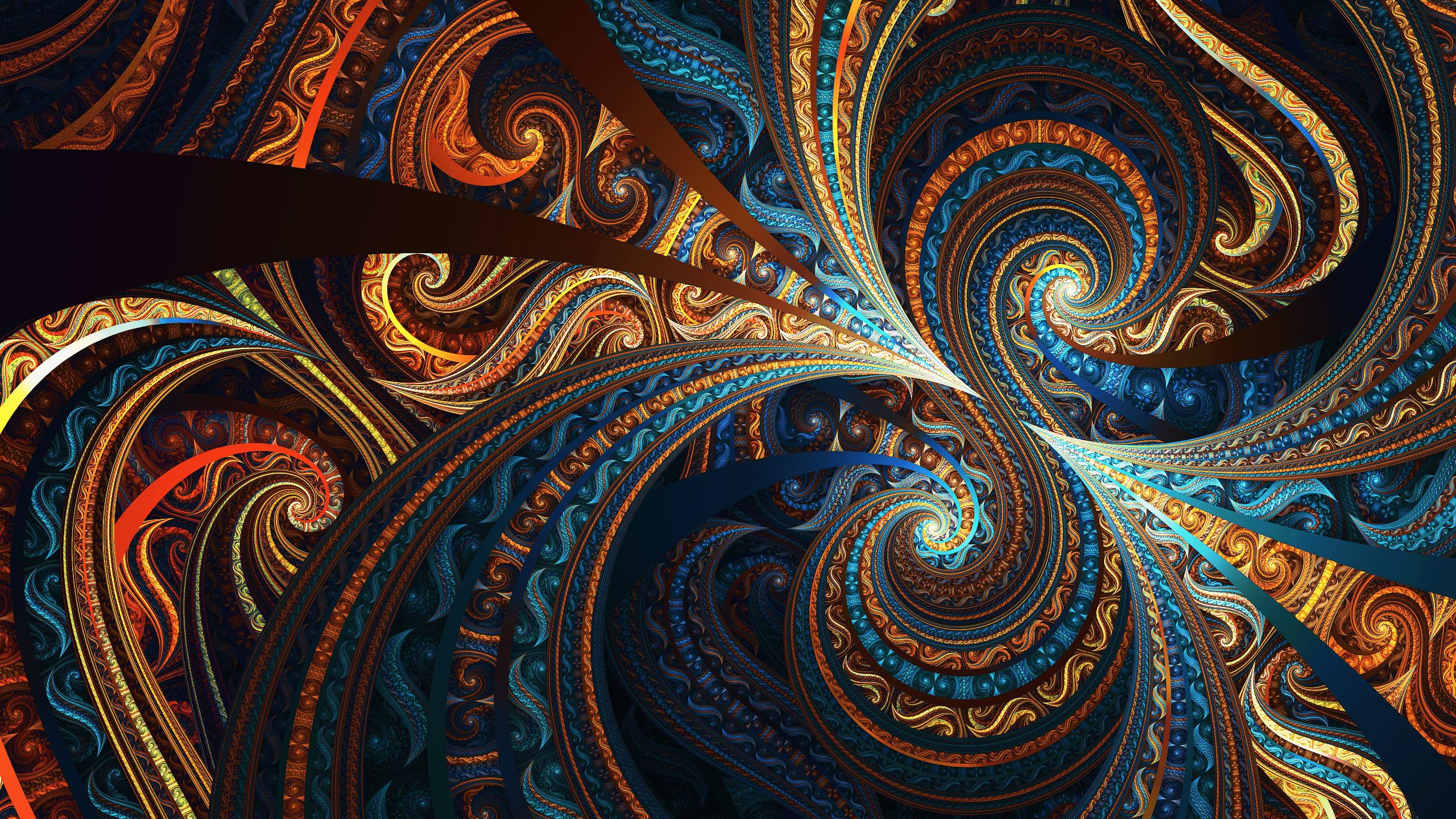 fractal colorful wqhd 1440p wallpaper