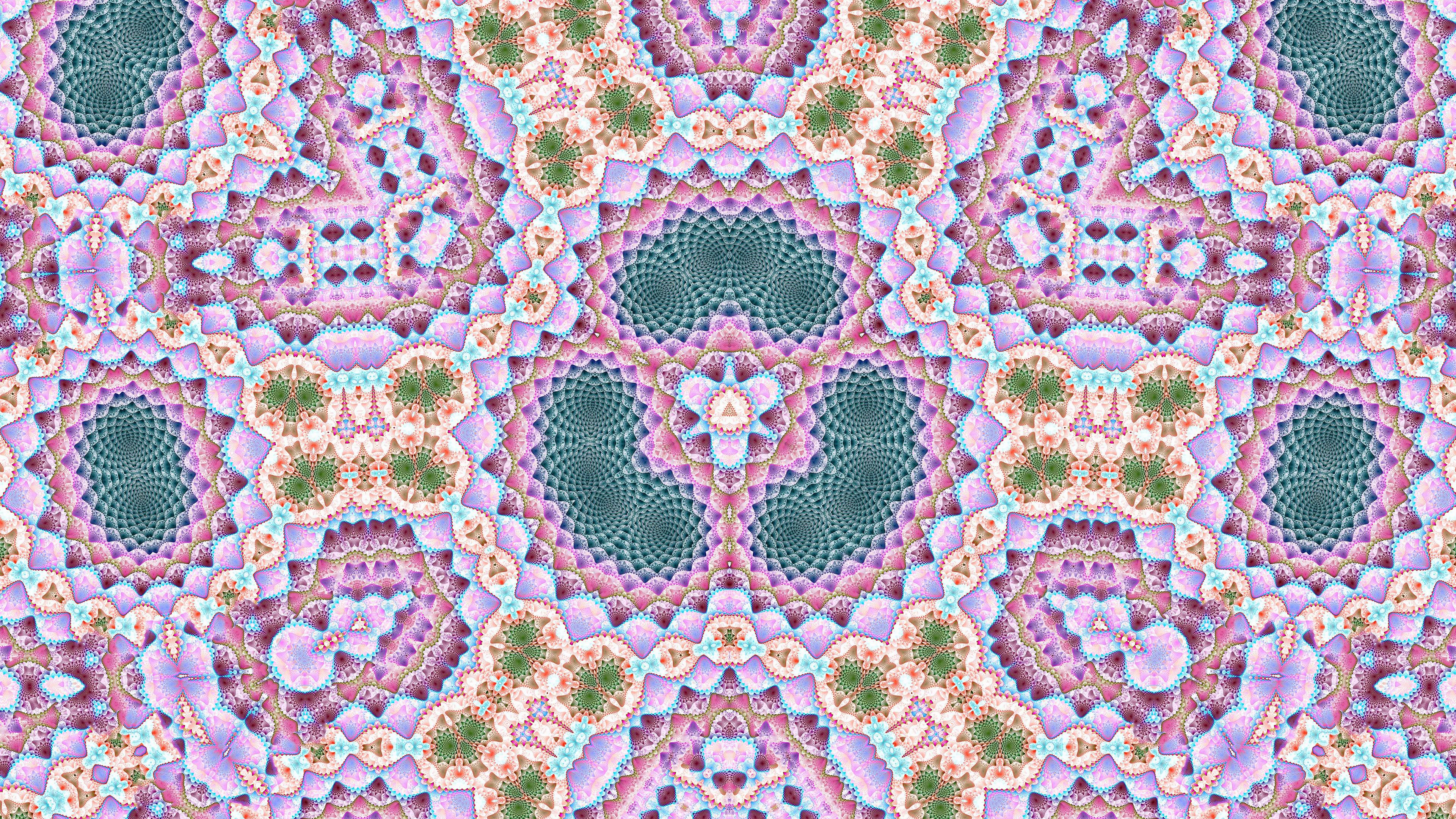 fractal kaleidoscope uhd 4k wallpaper