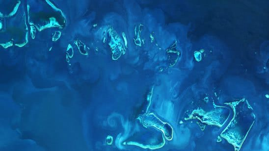 great barrier reef australia from space uhd 4k wallpaper