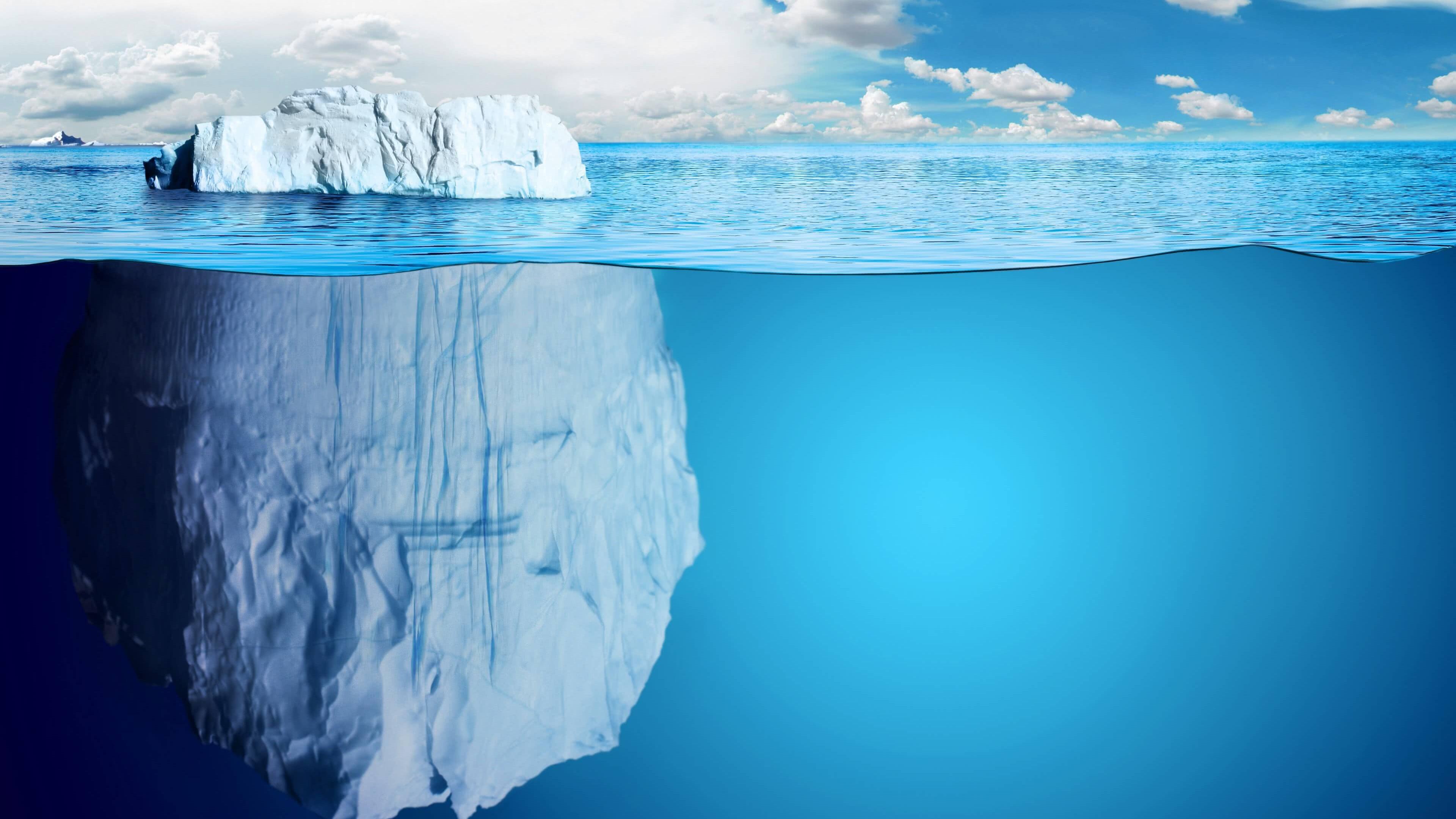 Iceberg Underwater Uhd 4k Wallpaper Pixelz