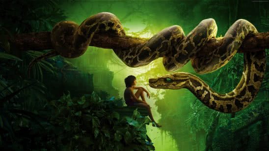 jungle book kaa mowgli uhd 4k wallpaper