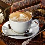 latte and vintage books uhd 4k wallpaper