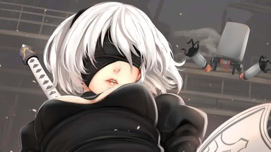 nier automata 2b anime uhd 4k wallpaper