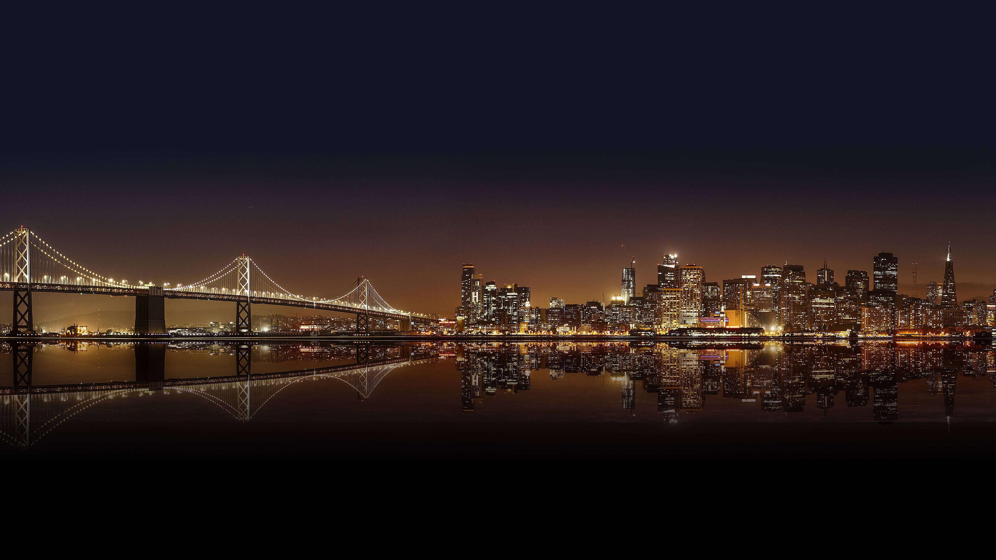 Night Time Cityscape UHD 4K Wallpaper   Pixelz