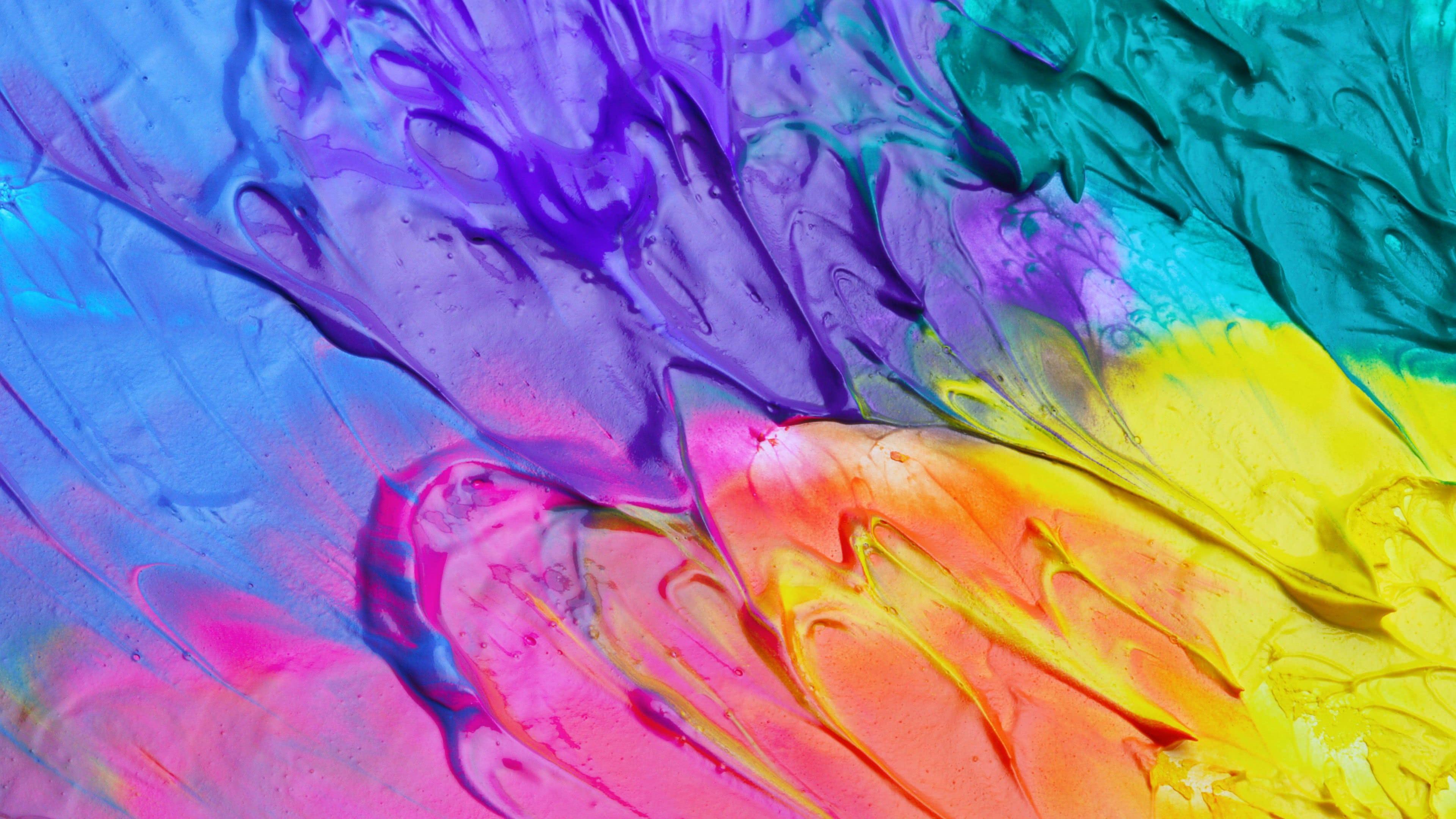 oil paint mixture uhd 4k wallpaper