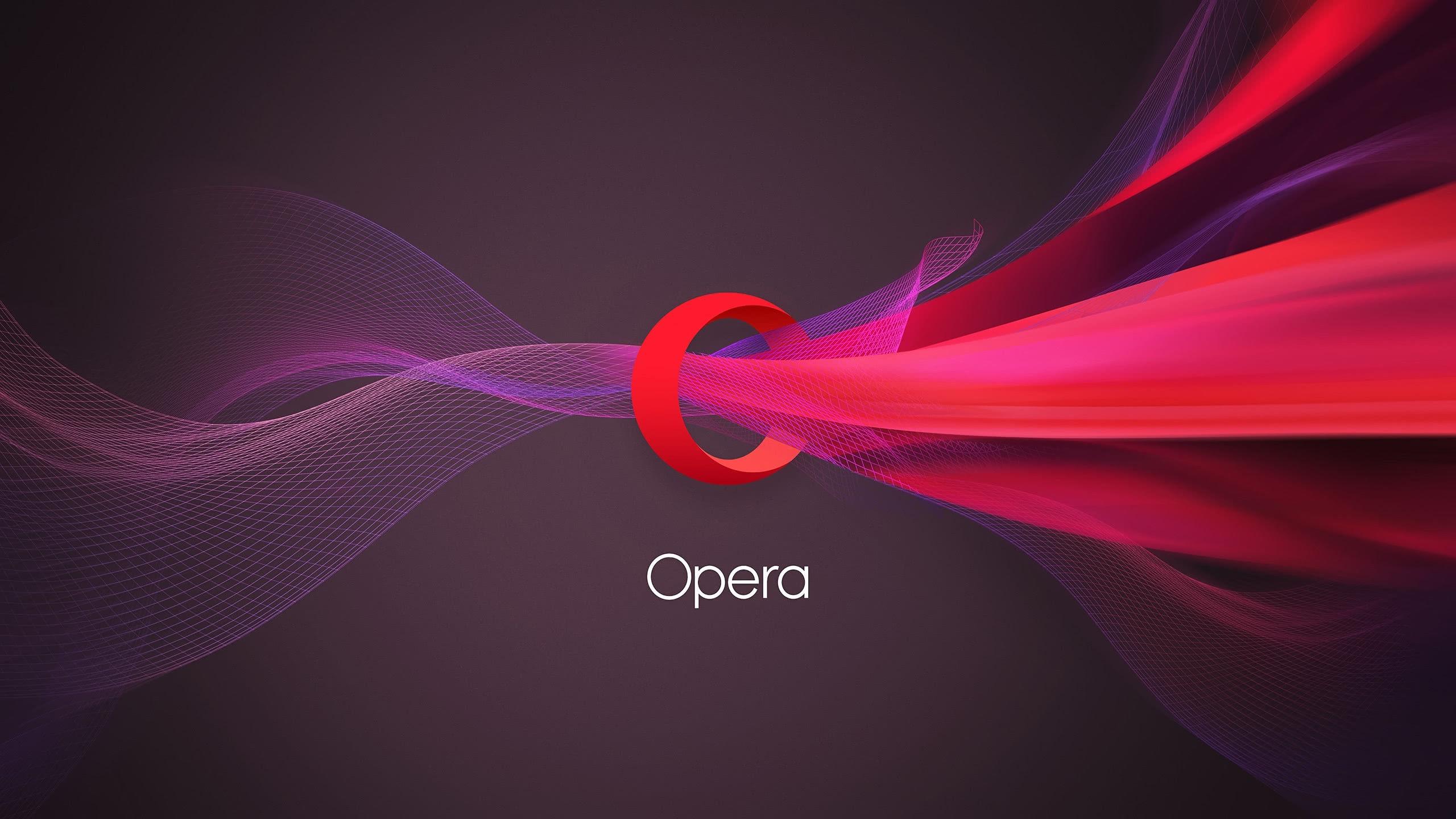 opera logo wqhd 1440p wallpaper