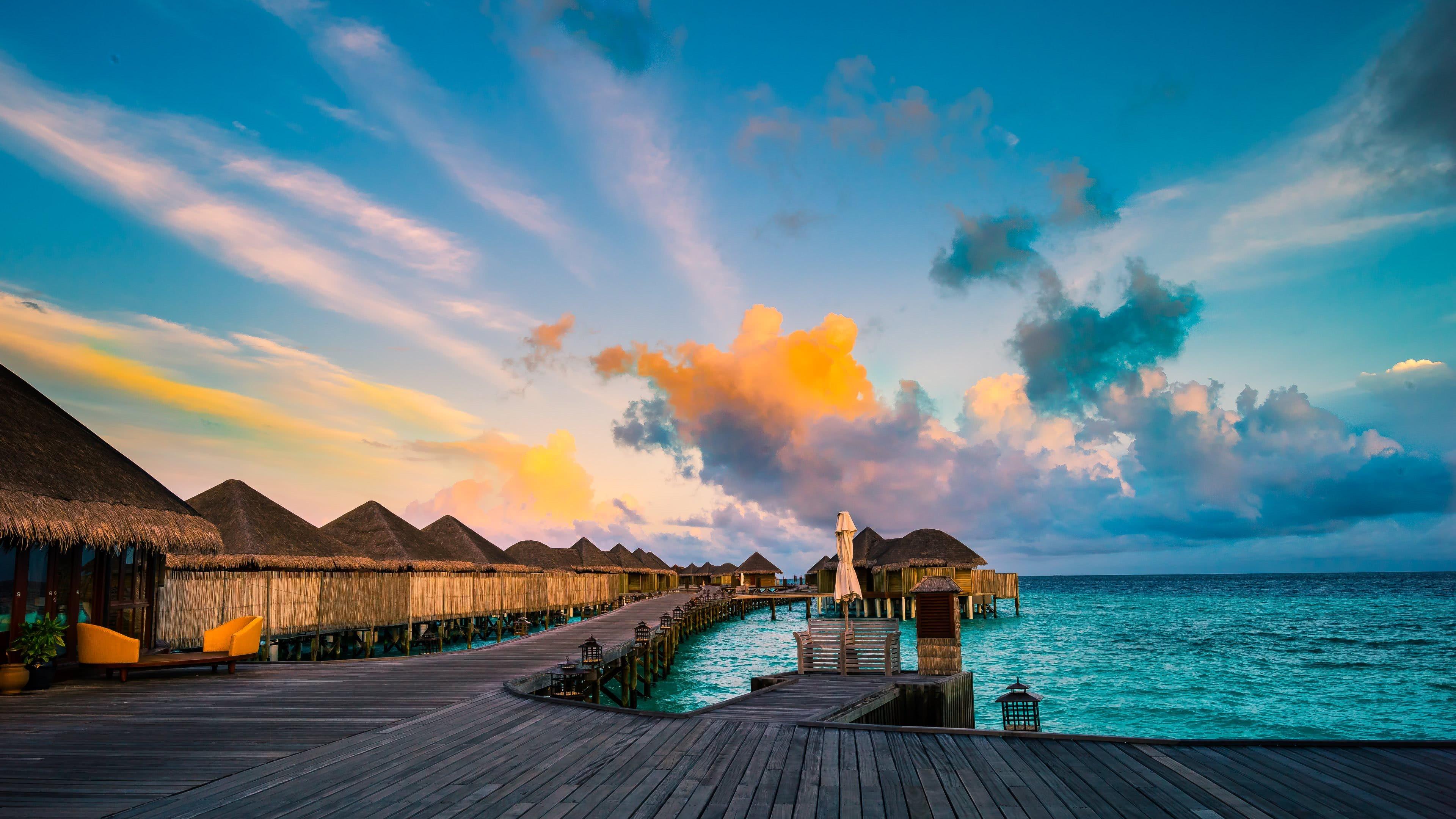 resort constance halaveli maldives uhd 4k wallpaper