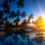 Resort Pool Sunset Thailand
