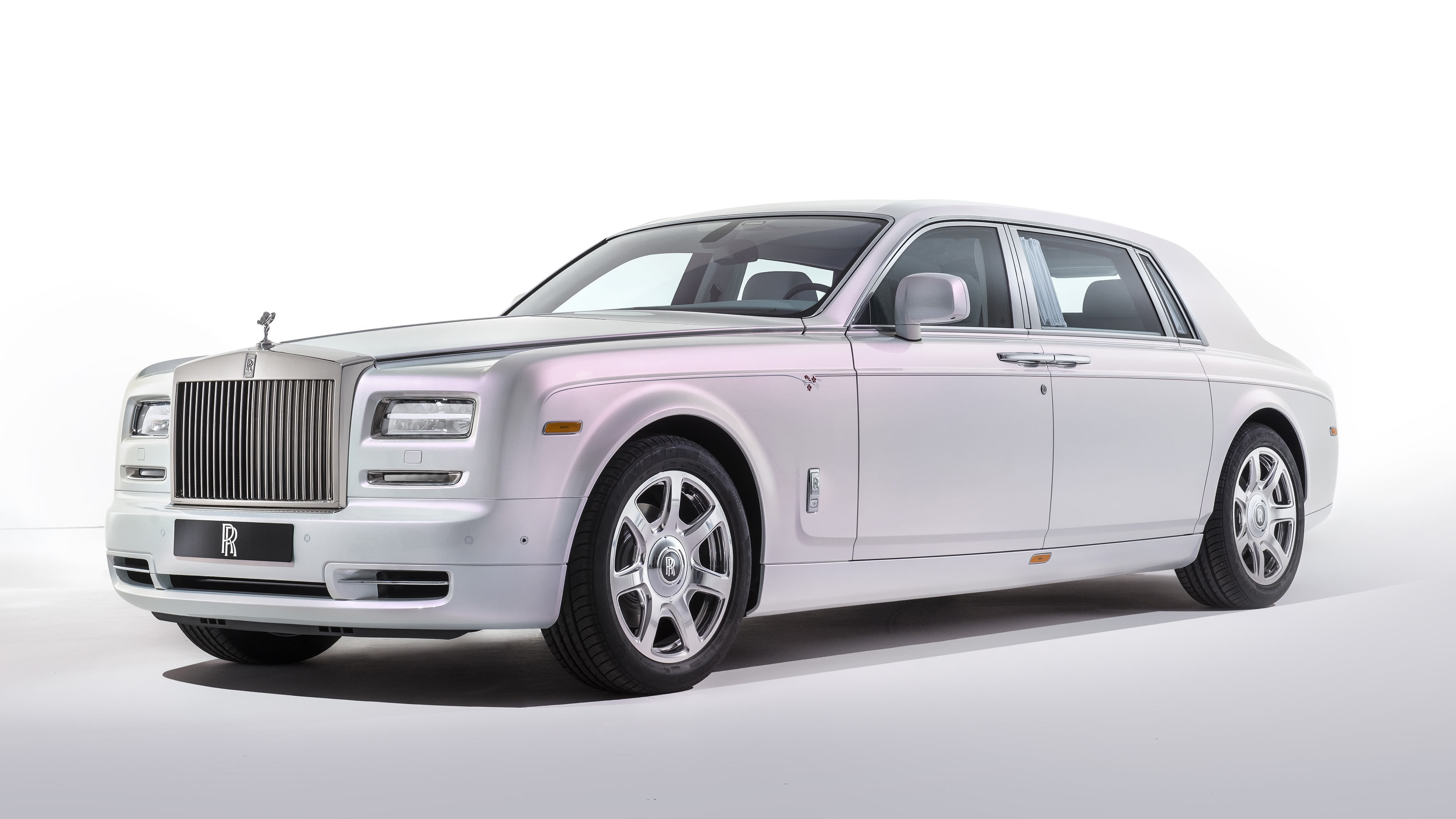 rolls royce phantom serenity sedan white uhd 4k wallpaper