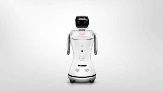 sanbot service robot uhd 4k wallpaper
