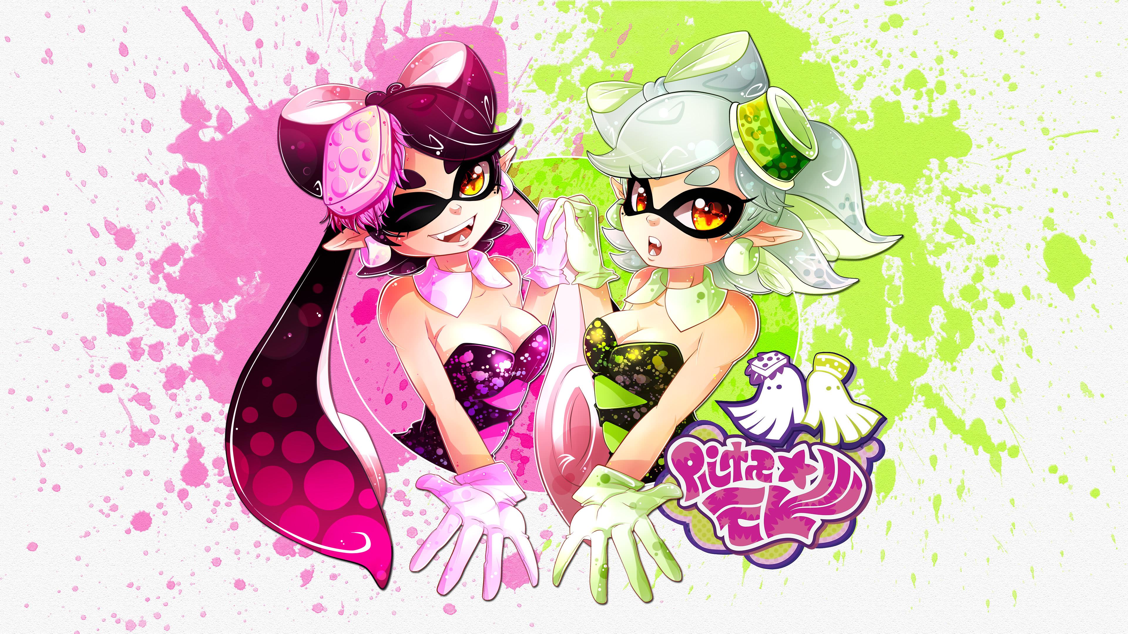 splatoon squid sisters uhd 4k wallpaper