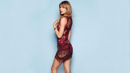taylor swift red dress photoshoot uhd 4k wallpaper
