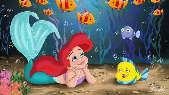 the little mermaid uhd 4k wallpaper