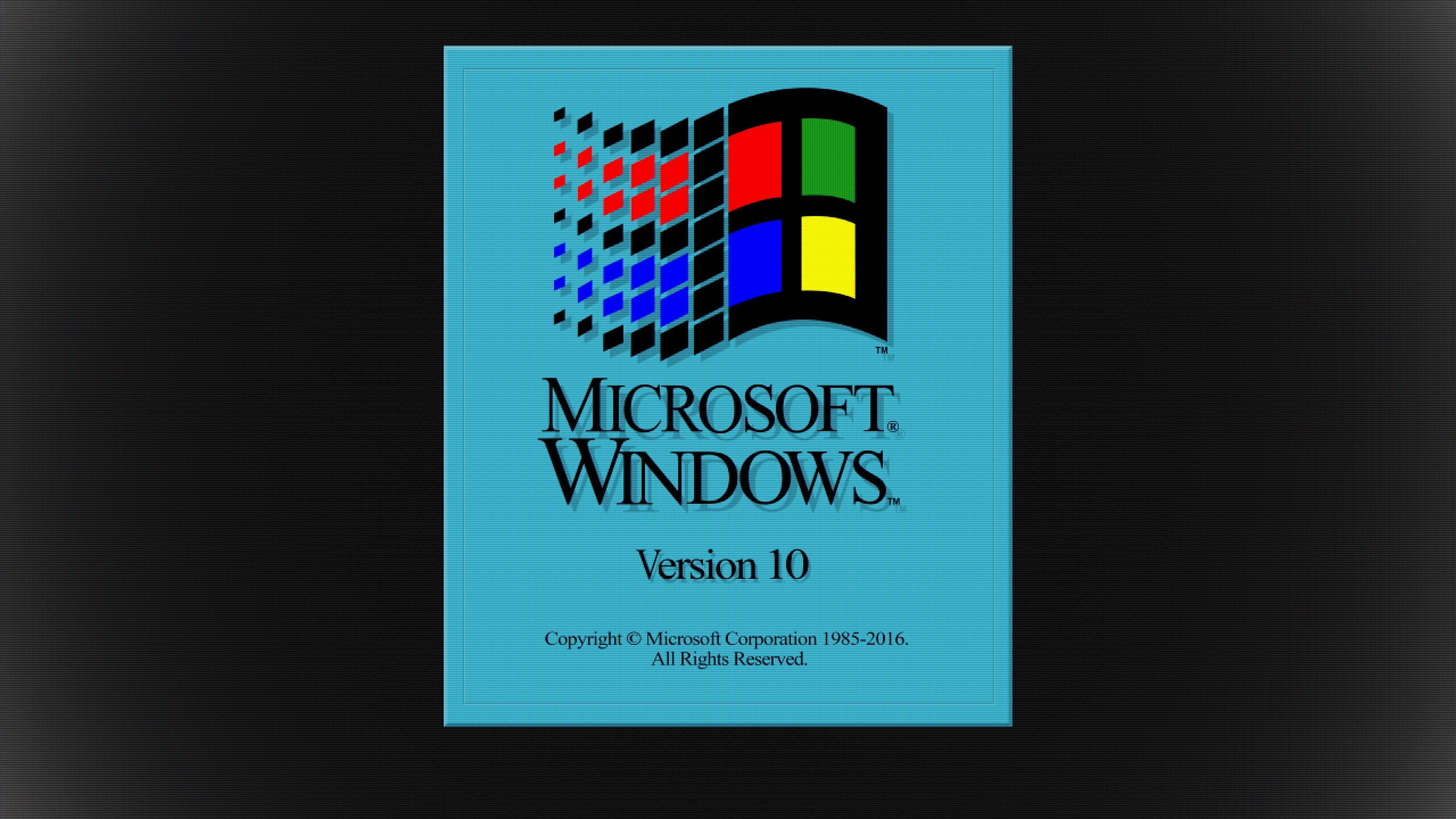Windows 10 Retro 3.1 UHD 4K Wallpaper