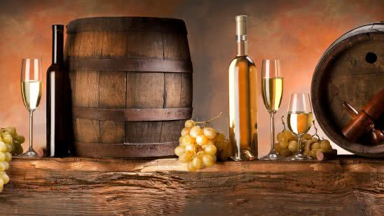 wine barrels and grapes uhd 4k wallpaper