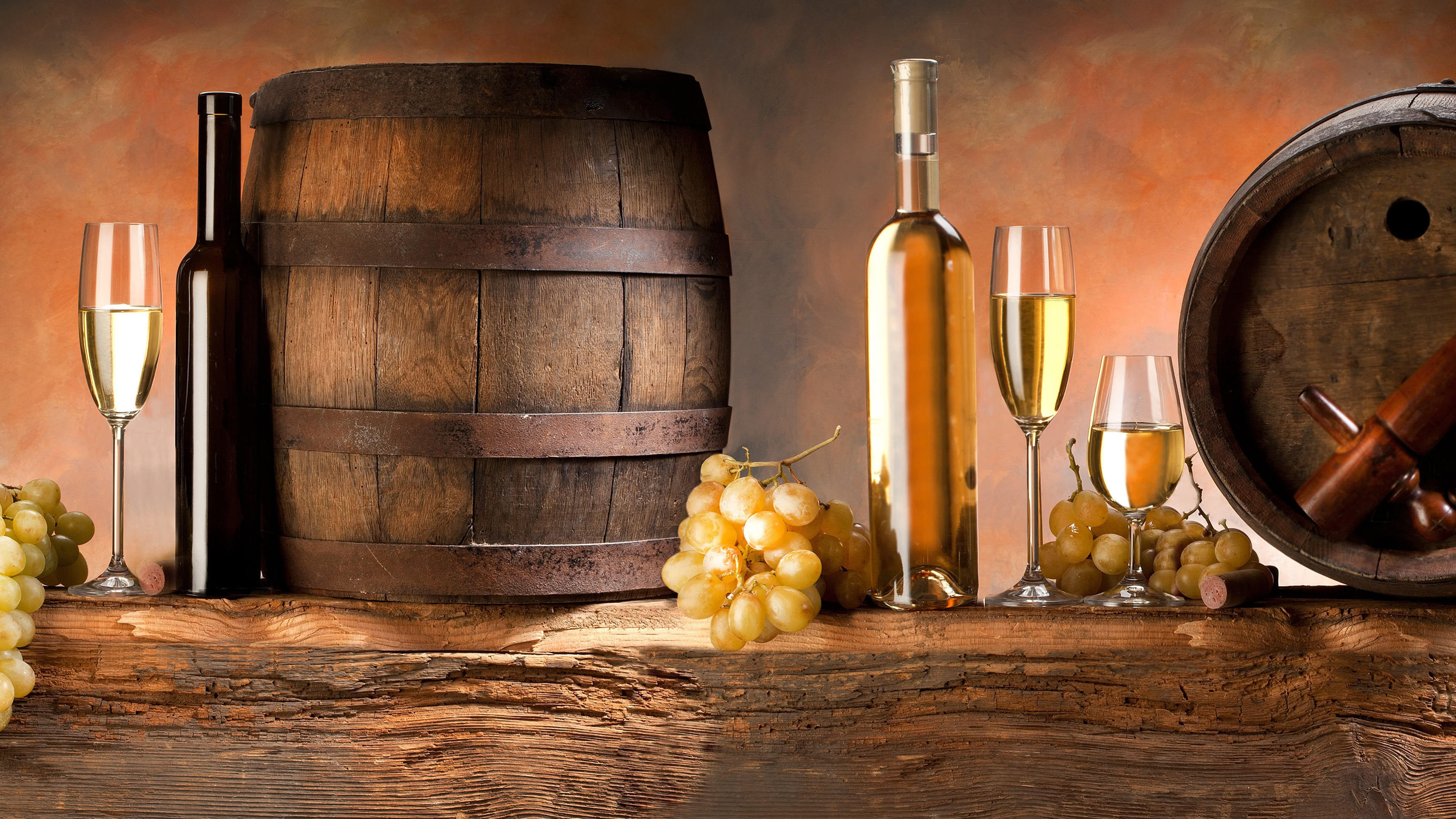 Wine Barrels And Grapes Uhd 4k Wallpaper Pixelz