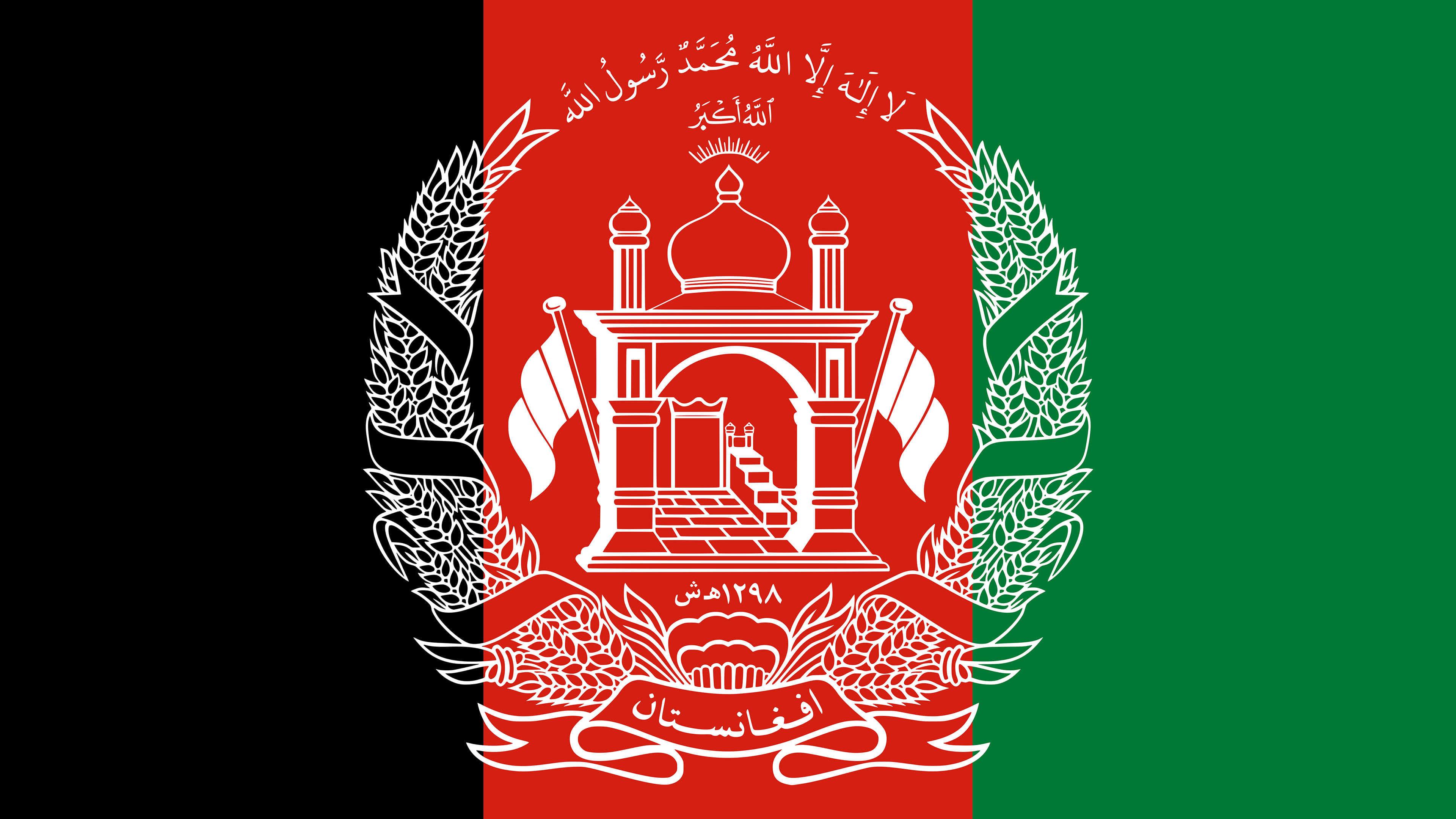 afghanistan flag uhd 4k wallpaper