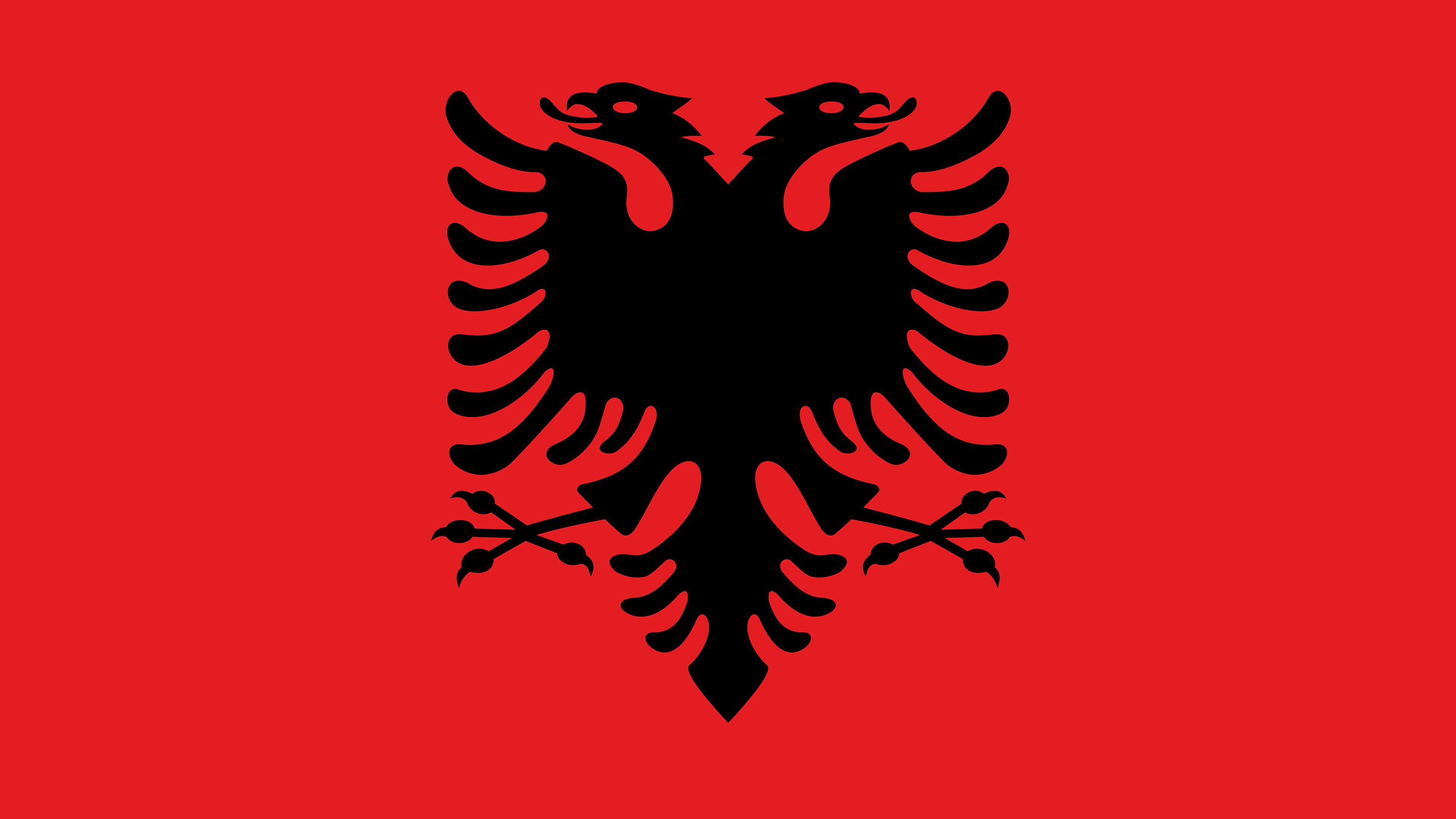 albania flag uhd 4k wallpaper