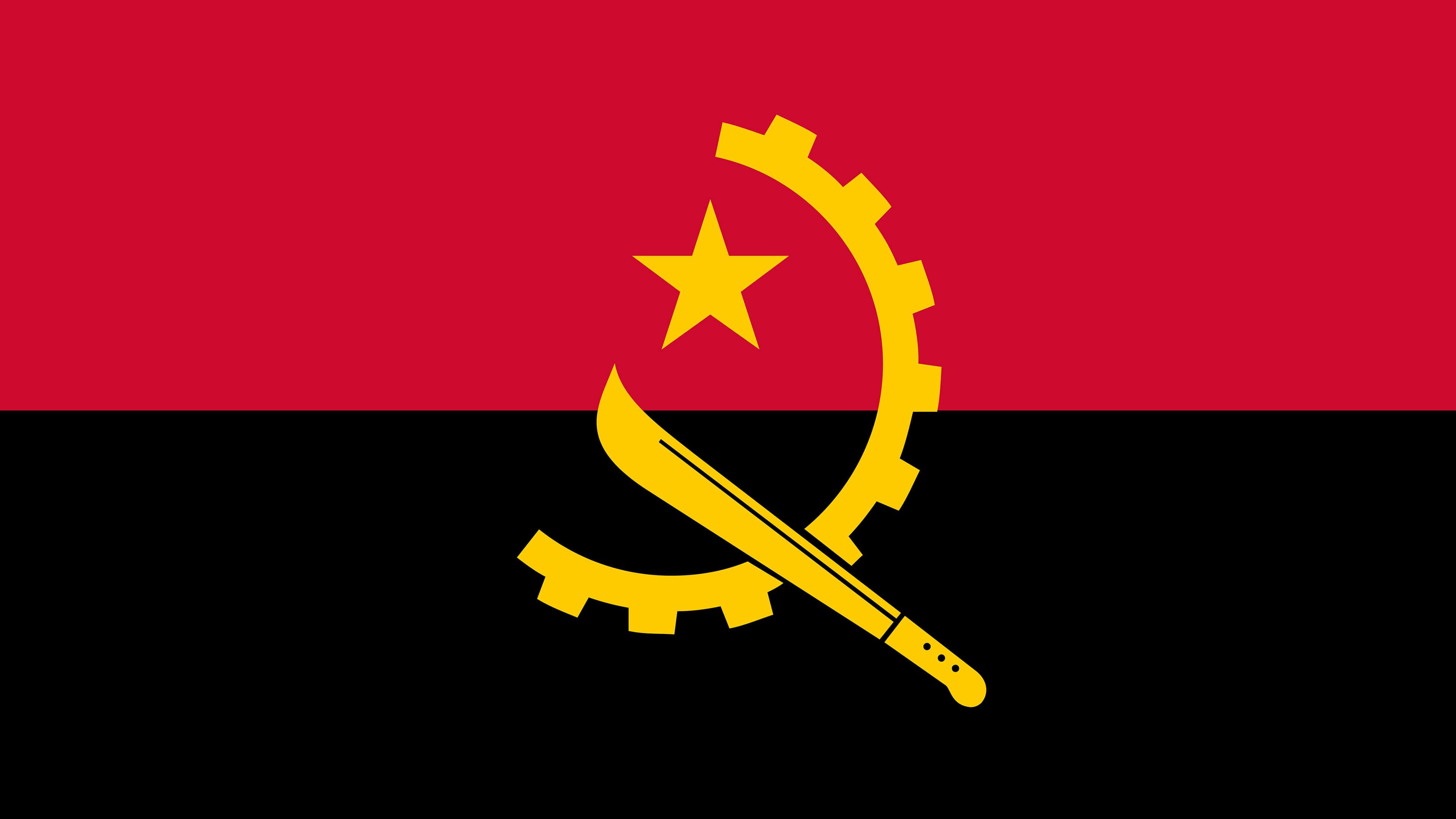 angola flag uhd 4k wallpaper