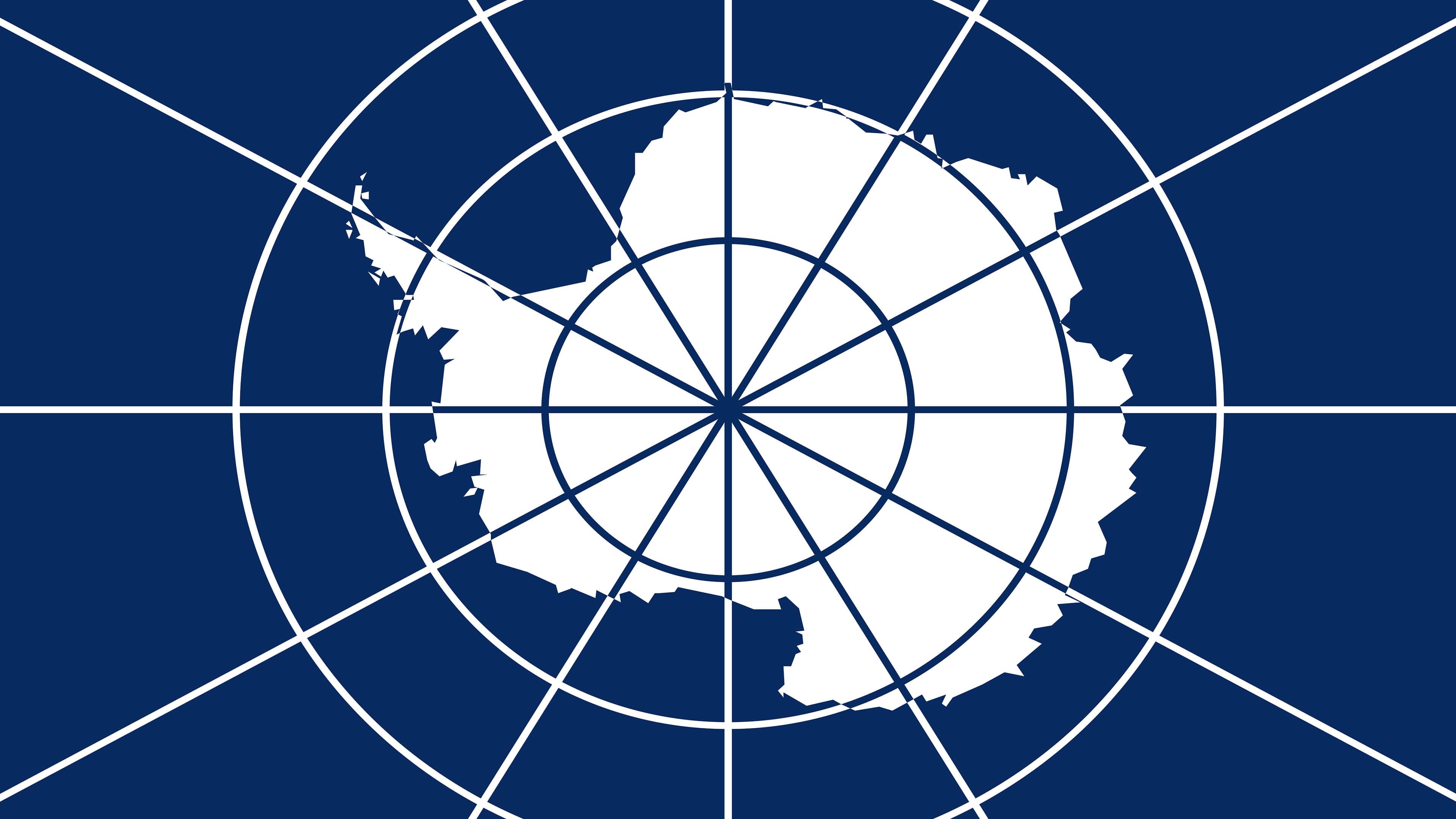 antarctica flag uhd 4k wallpaper