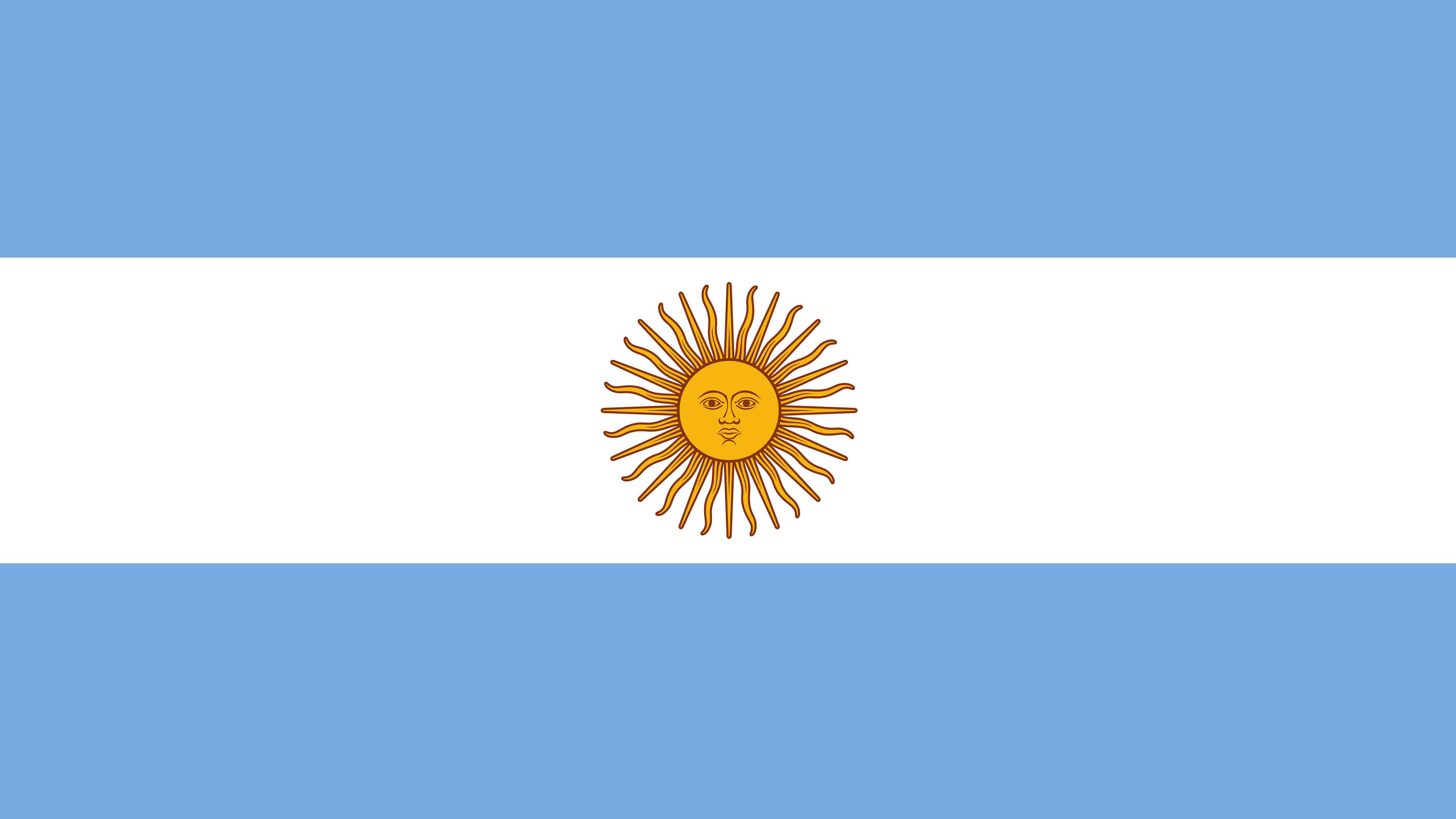 argentina flag uhd 4k wallpaper
