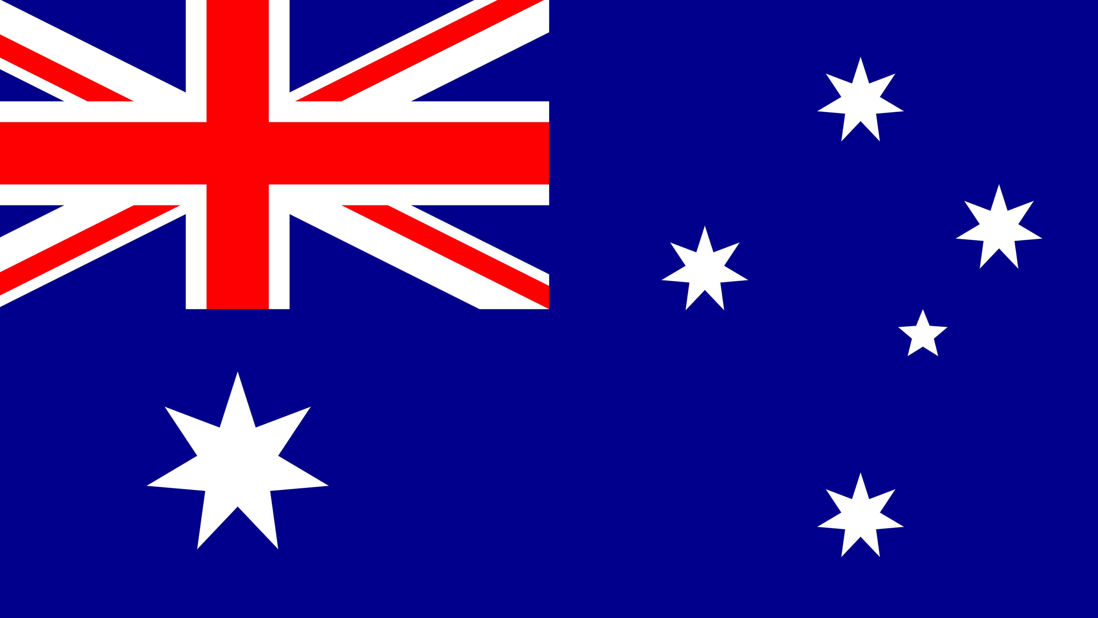 australia flag uhd 4k wallpaper