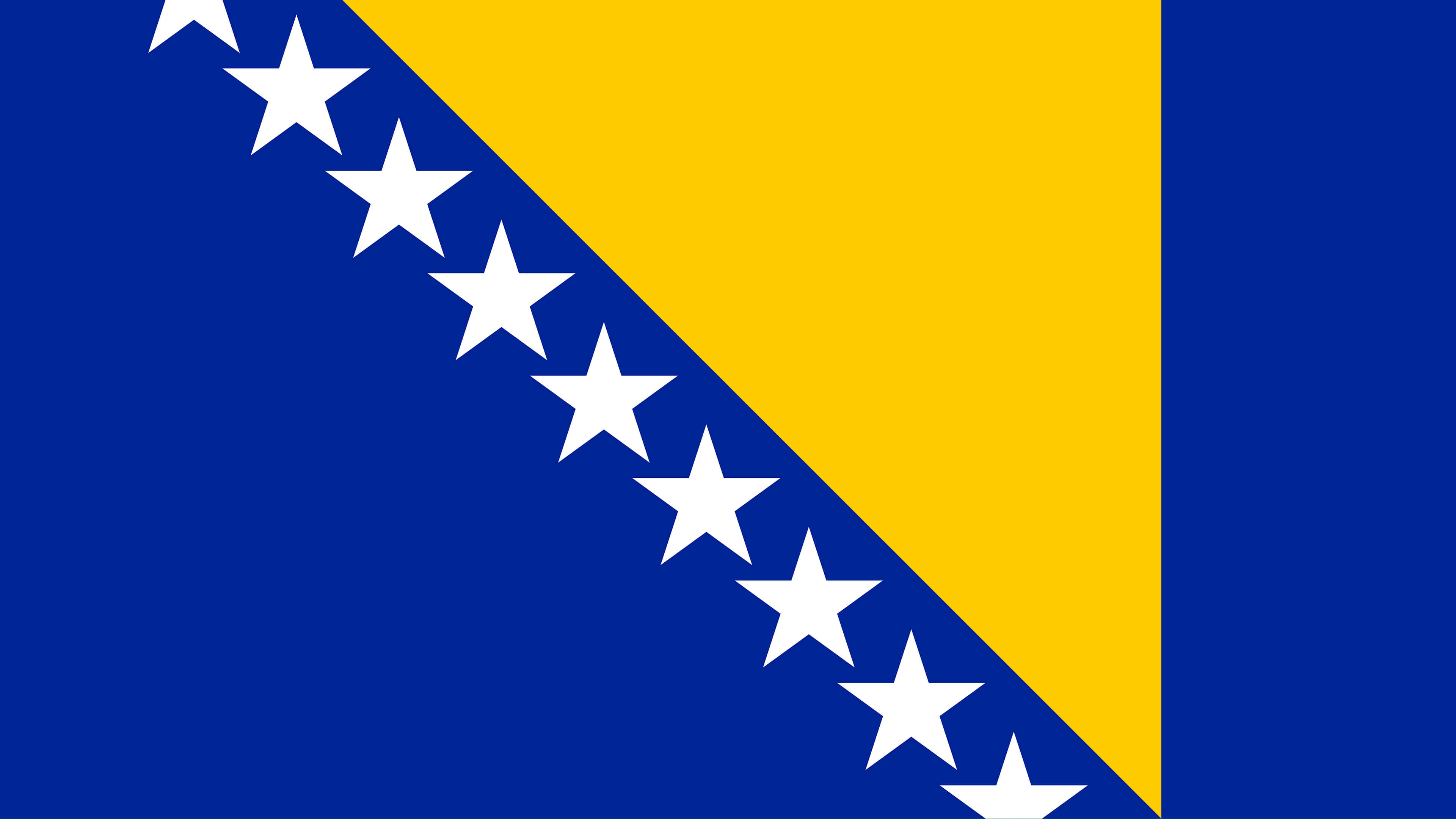 bosnia and herzegovina flag uhd 4k wallpaper