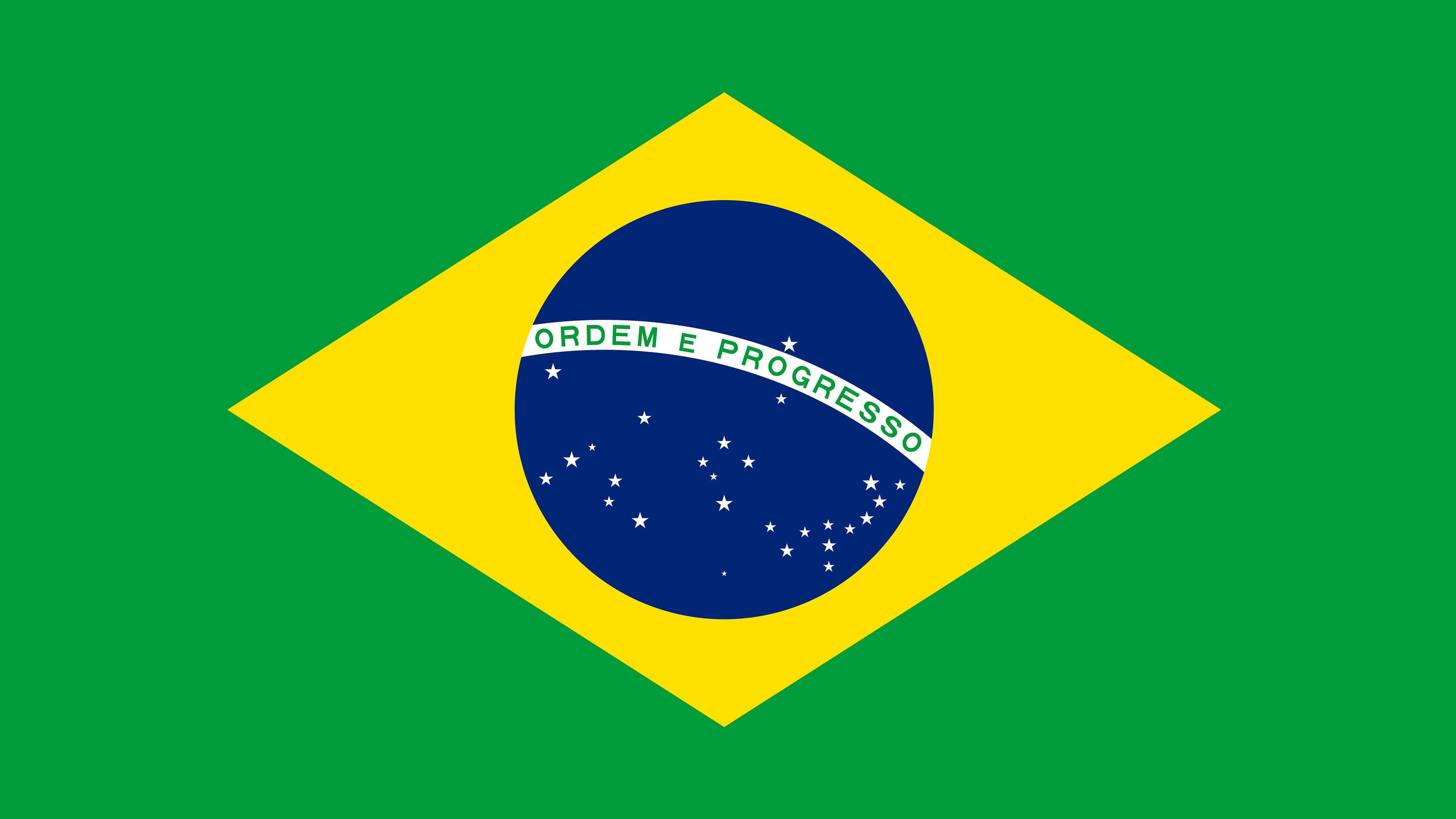 brazil flag uhd 4k wallpaper