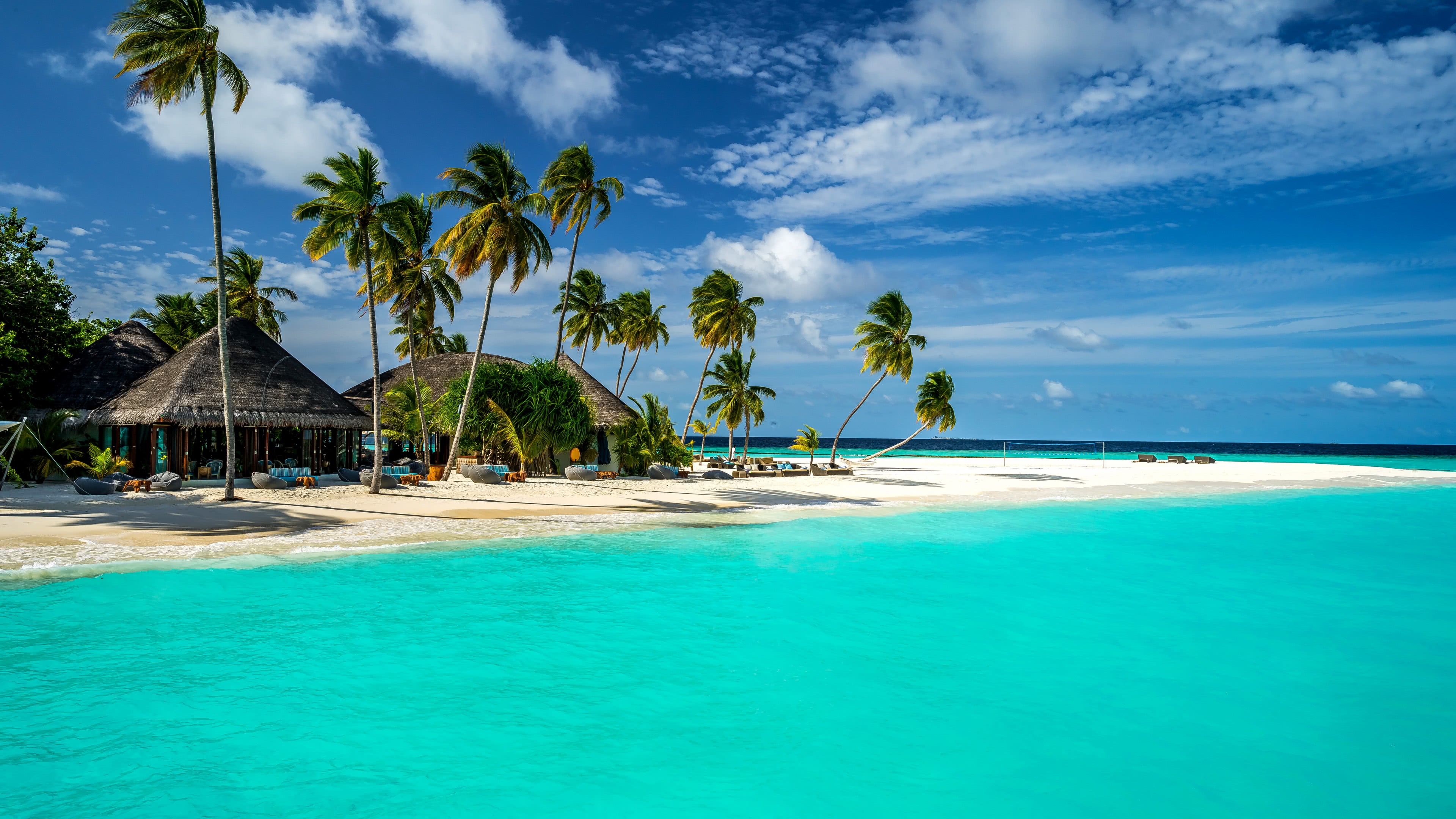 bungalows maldives uhd 4k wallpaper