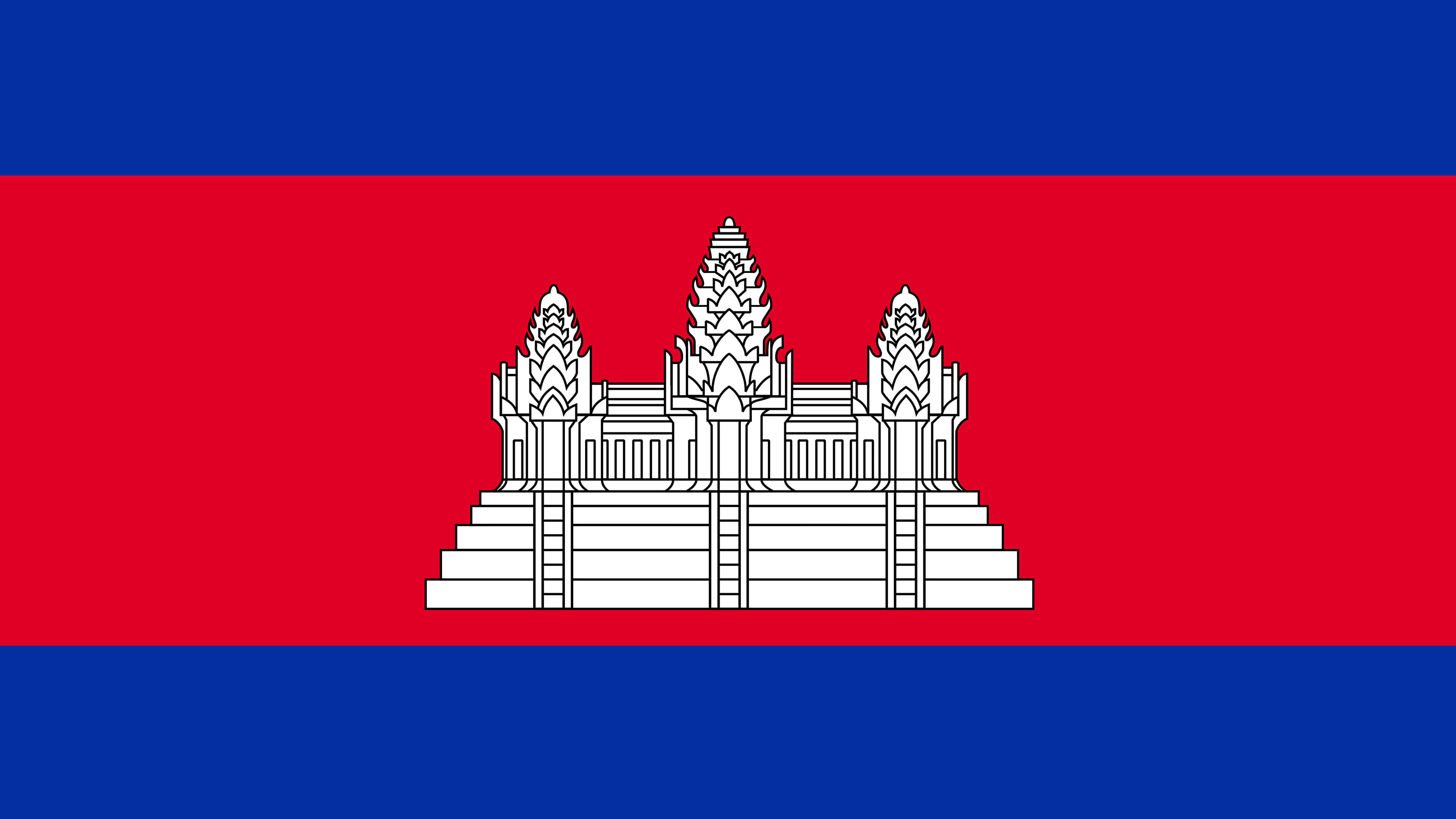 cambodia flag uhd 4k wallpaper
