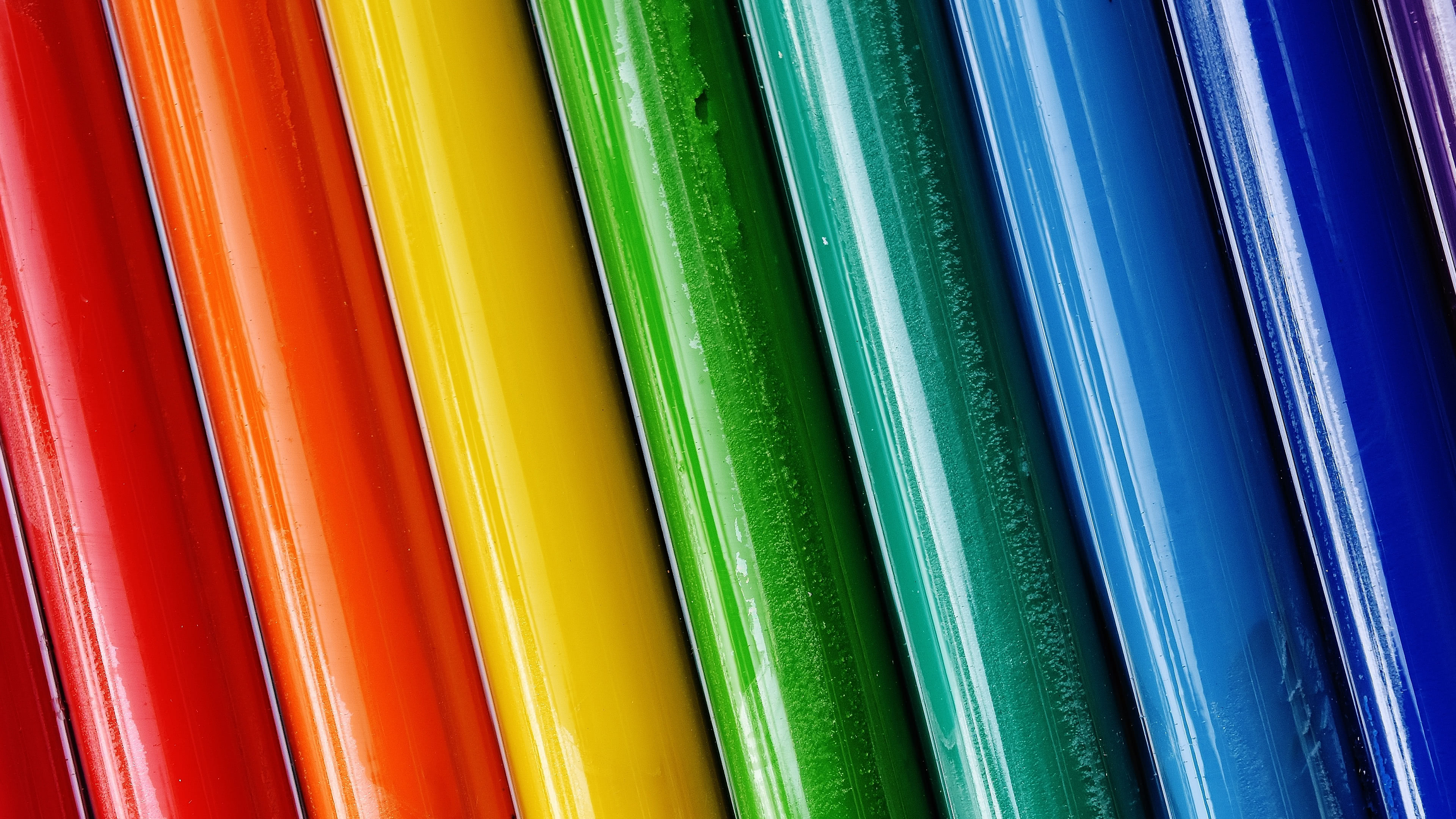 colorful tubes uhd 4k wallpaper