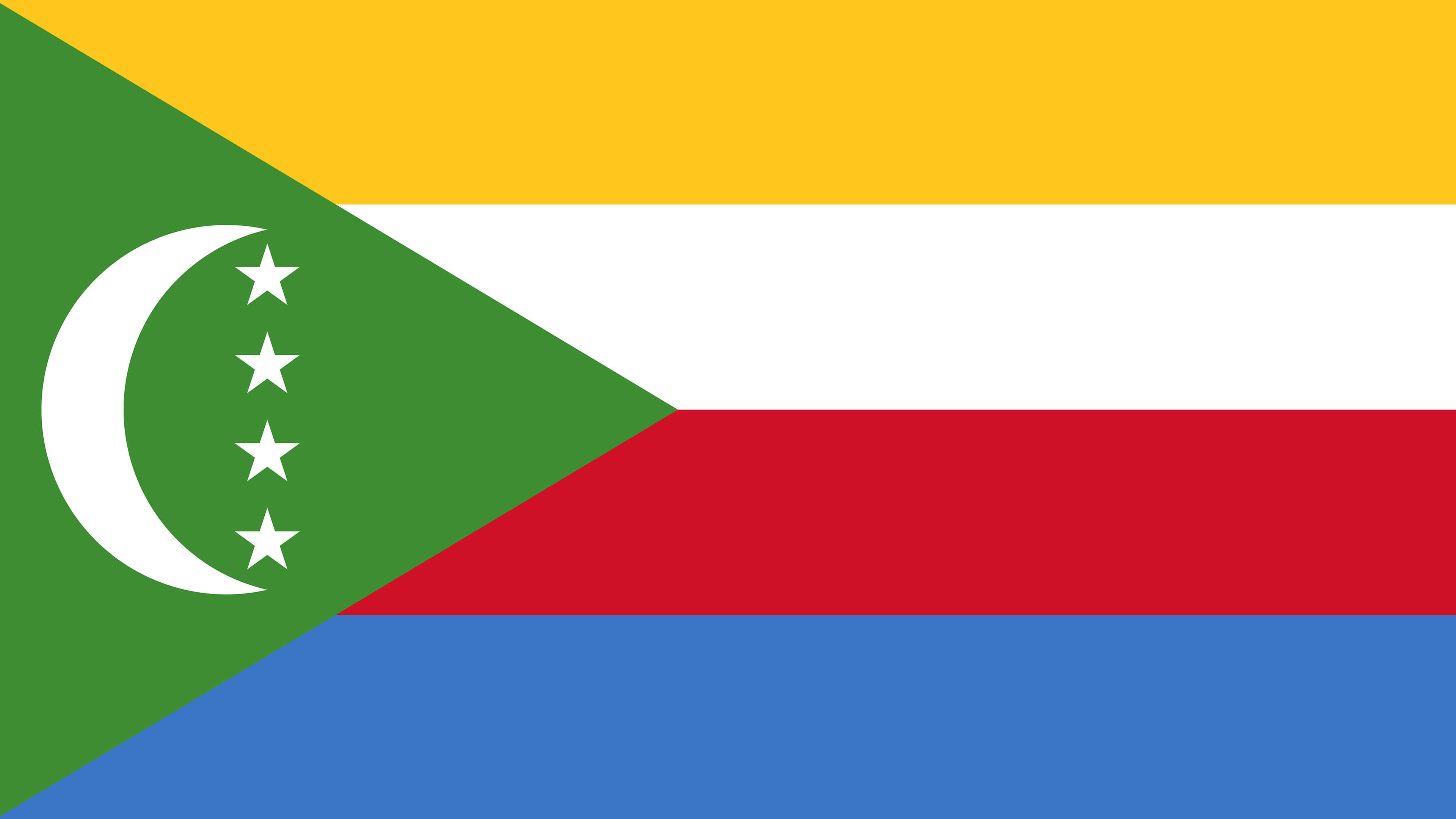 comoros flag uhd 4k wallpaper