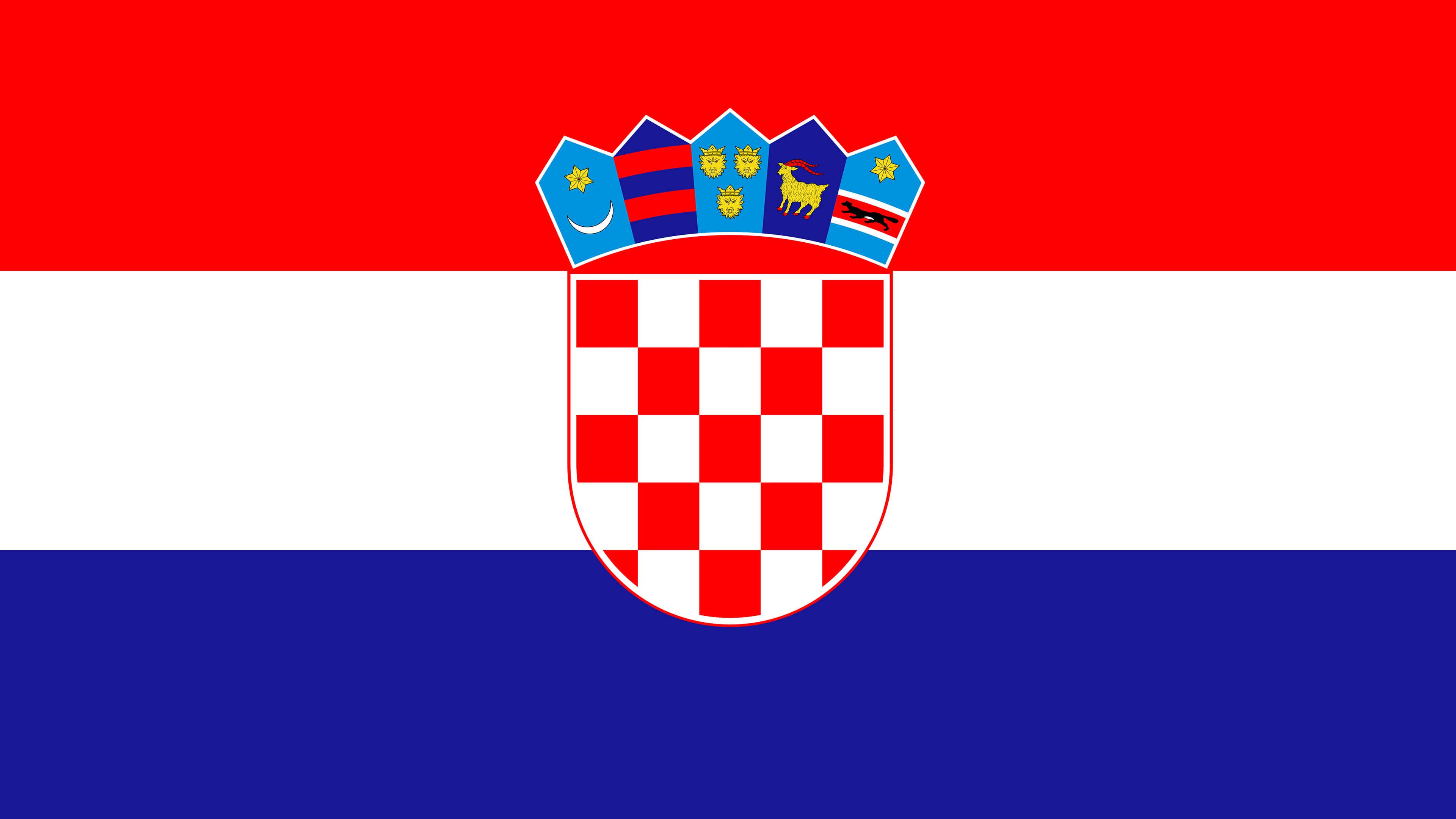 croatia flag uhd 4k wallpaper