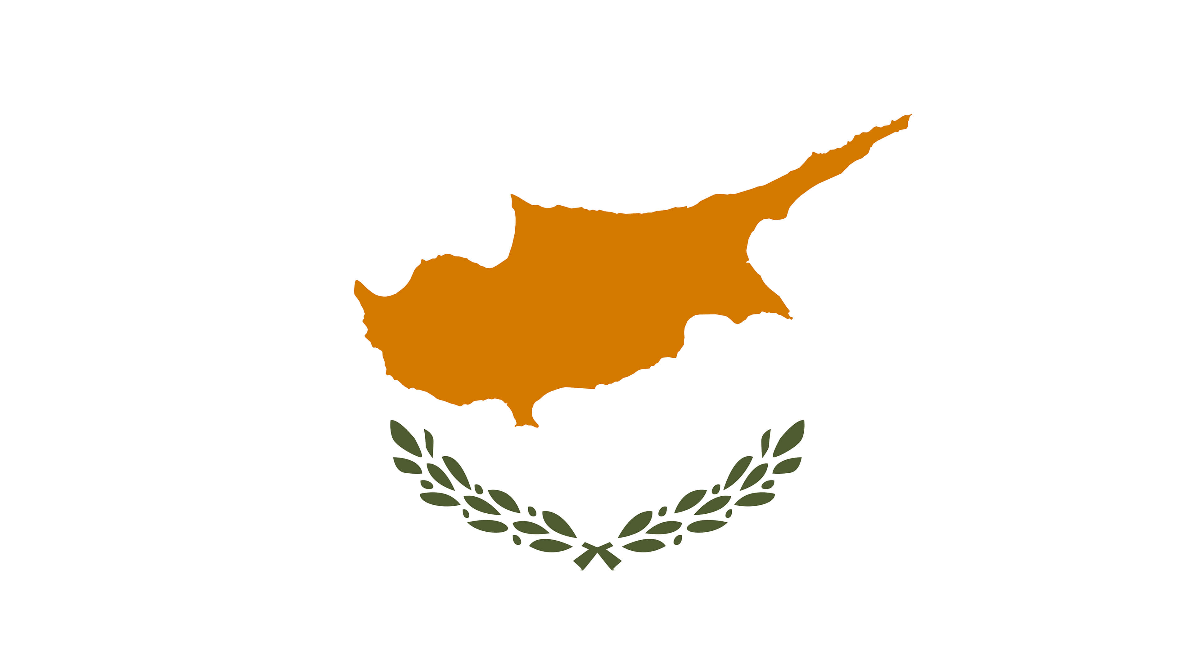 cyprus flag uhd 4k wallpaper