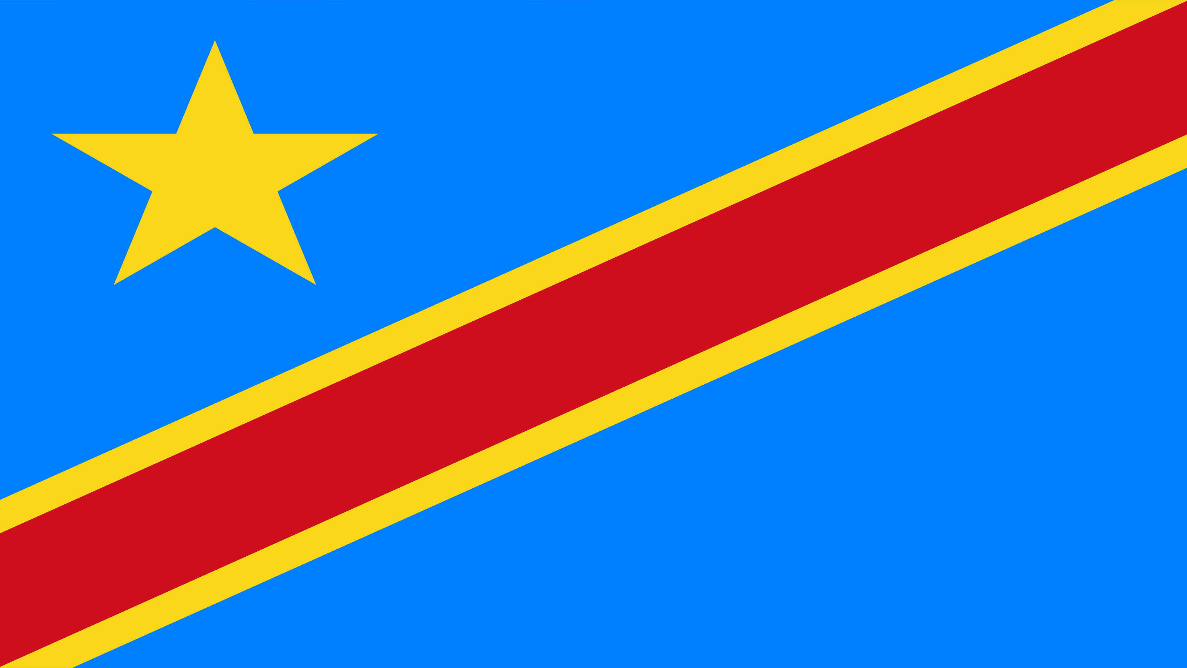 democratic republic of the congo flag uhd 4k wallpaper