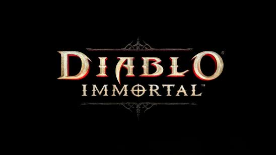 diablo immortal logo uhd 4k wallpaper