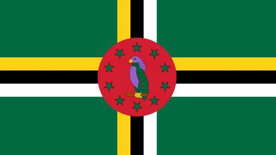 dominica flag uhd 4k wallpaper