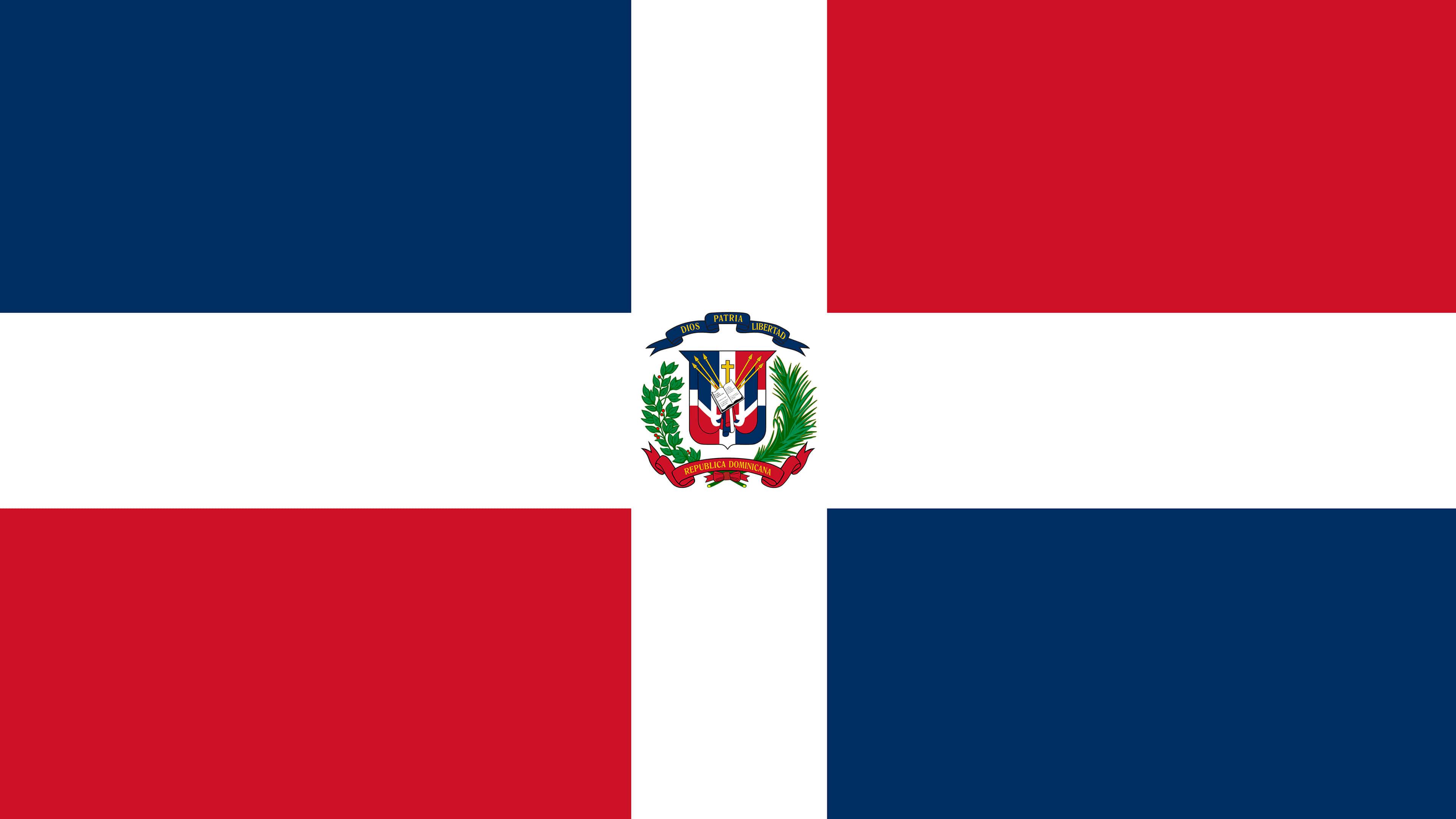 dominican republic flag uhd 4k wallpaper