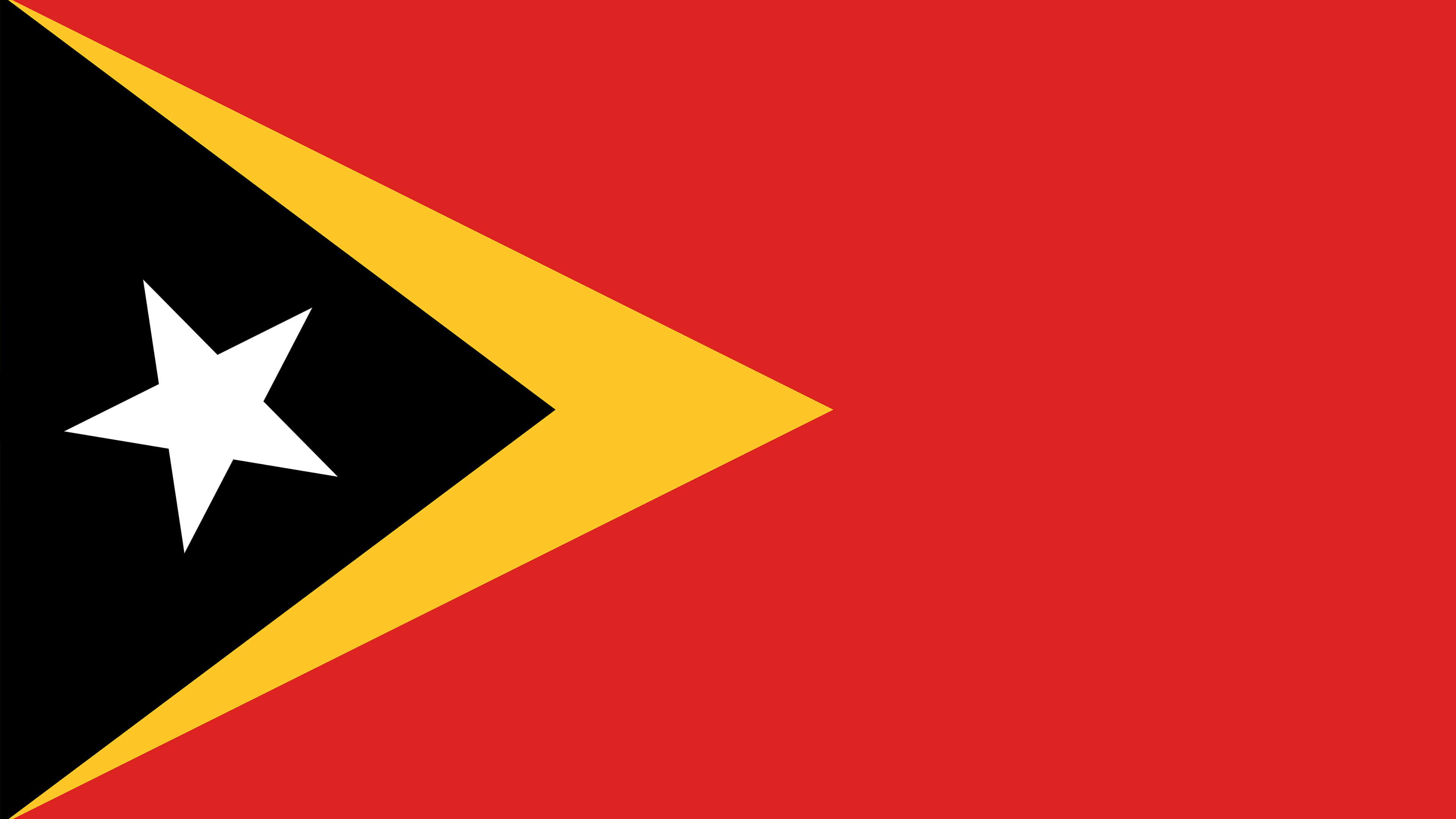 east timor flag uhd 4k wallpaper