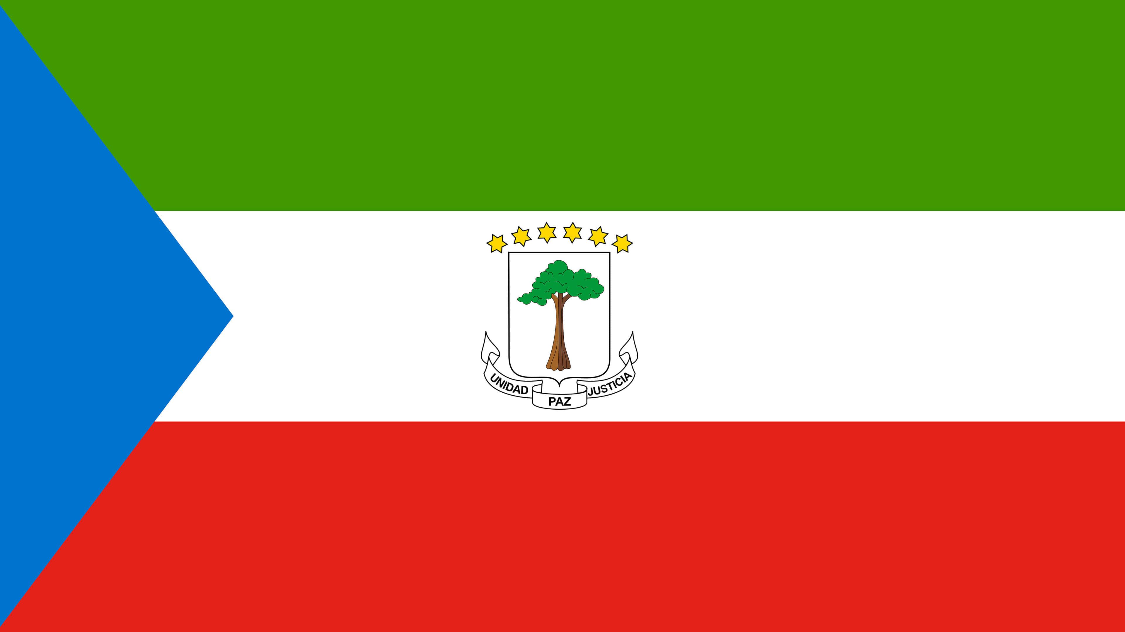 equatorial guinea flag uhd 4k wallpaper