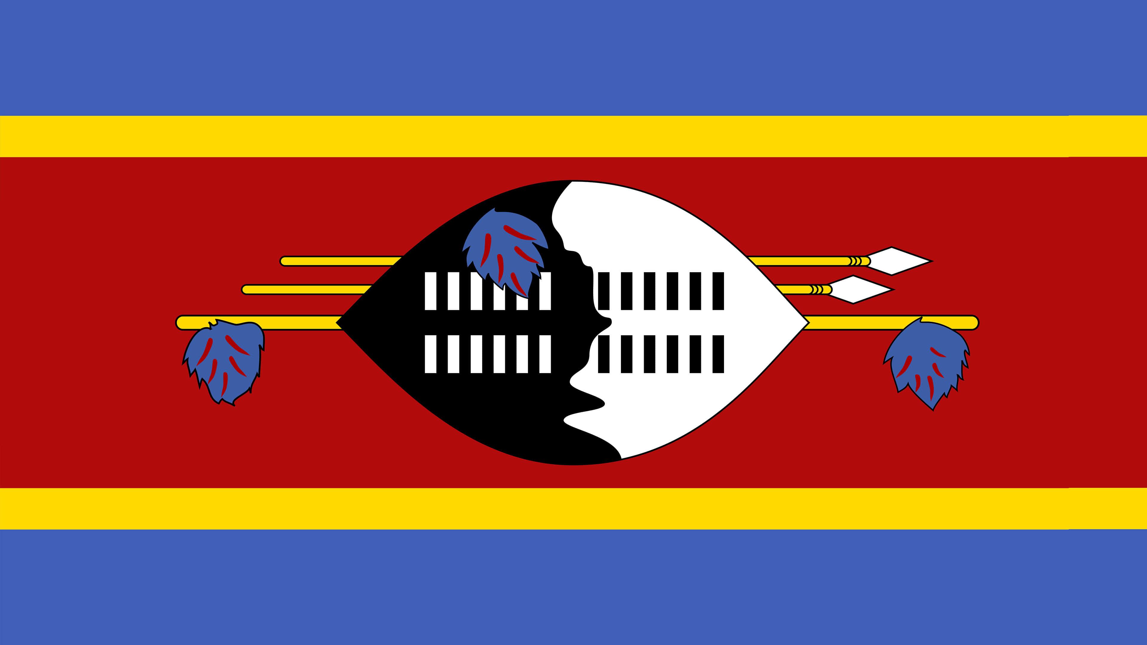 eswatini flag uhd 4k wallpaper