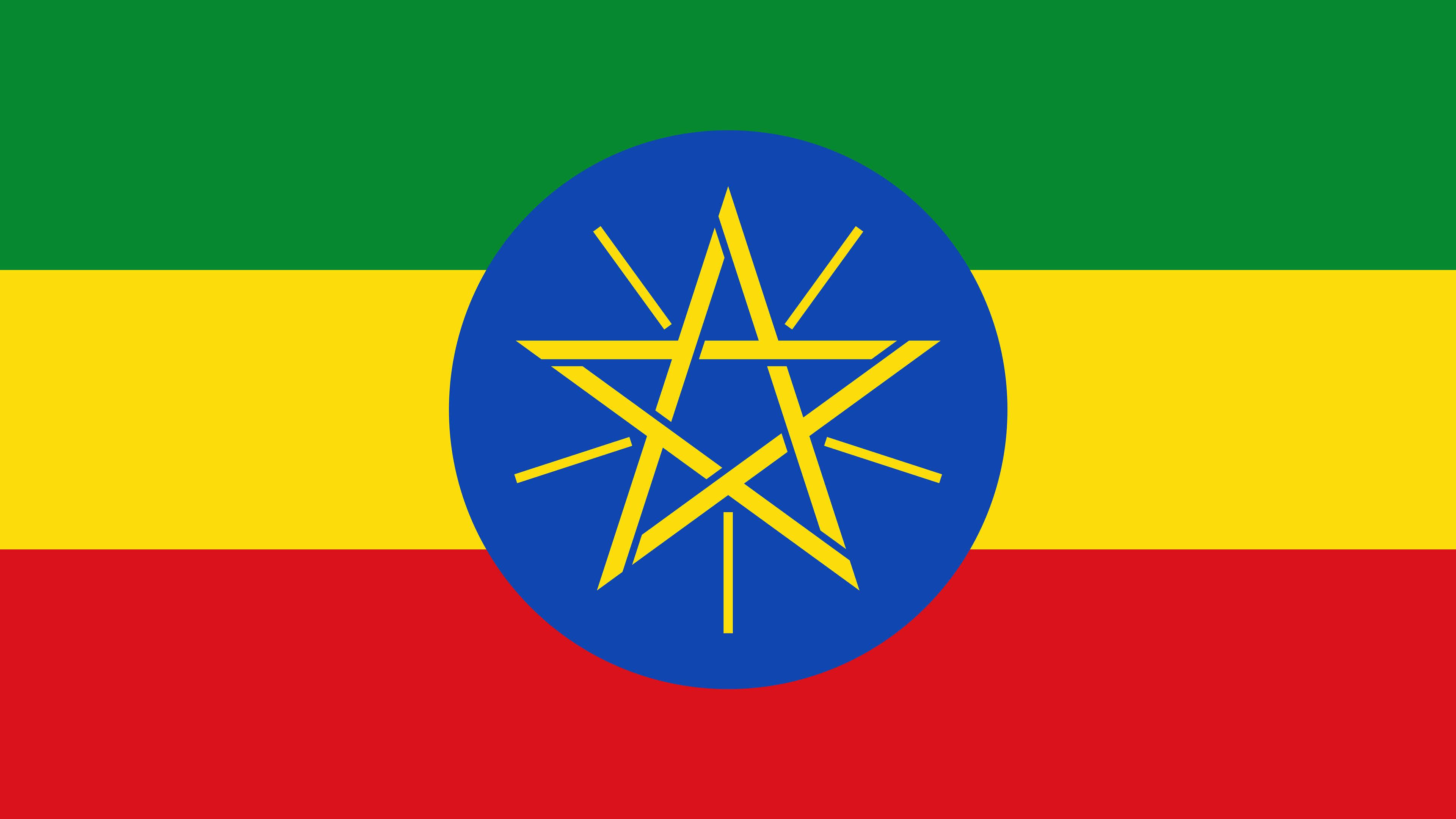 ethiopia flag uhd 4k wallpaper