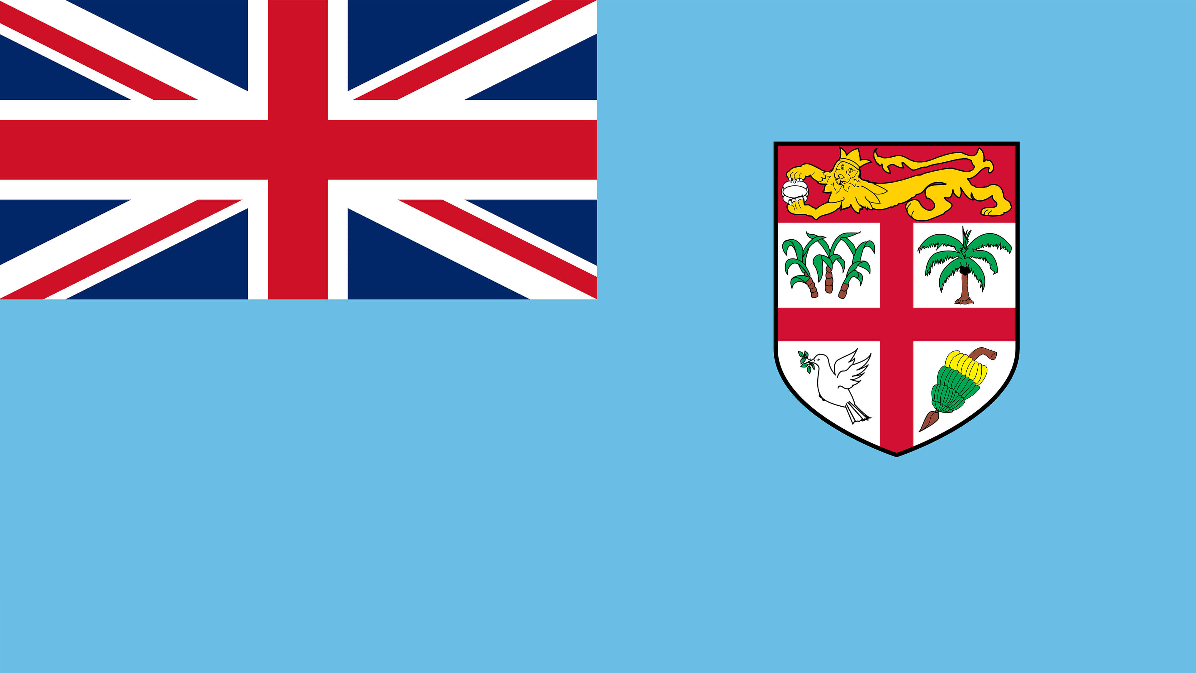 fiji flag uhd 4k wallpaper