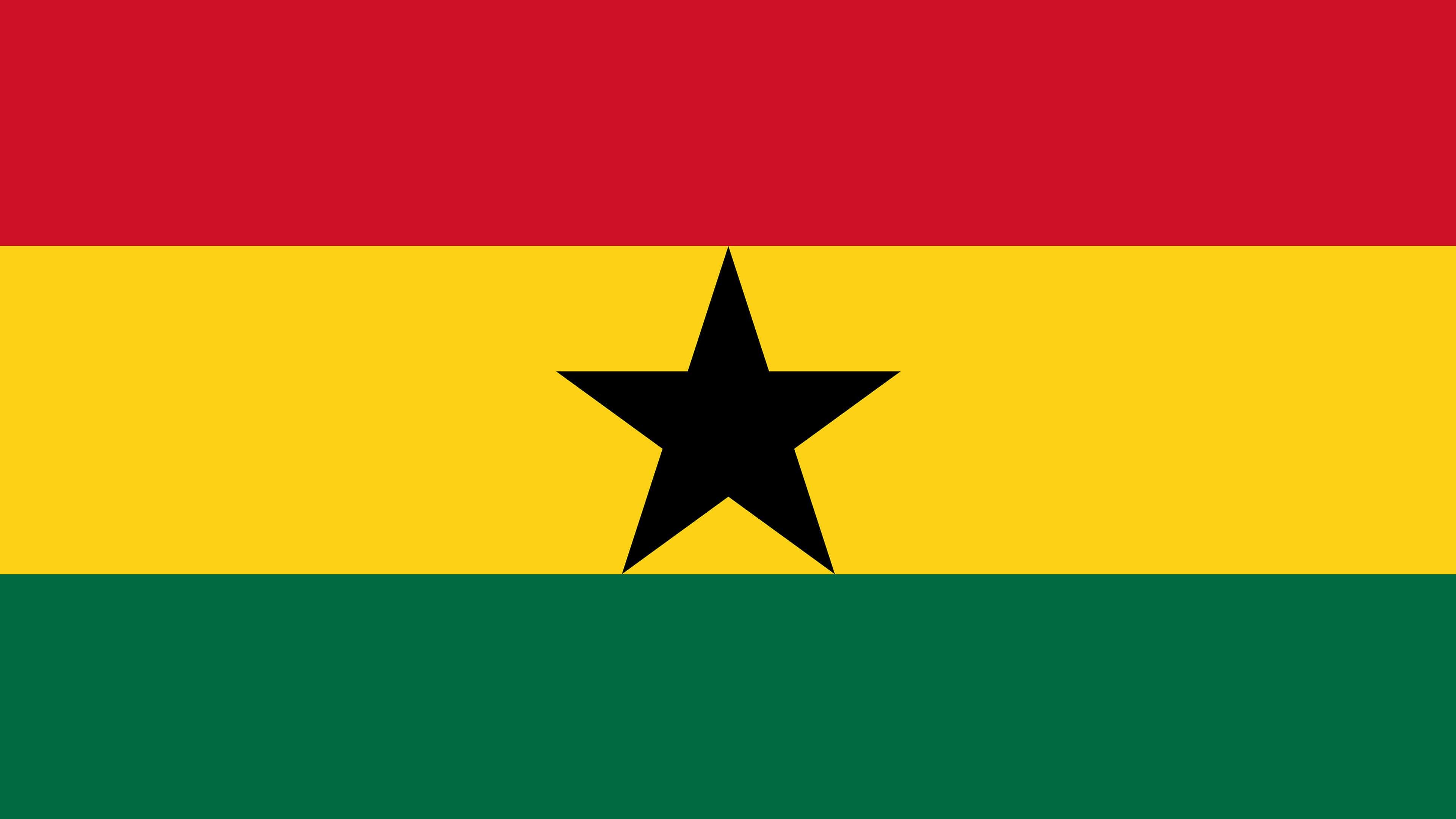 ghana flag uhd 4k wallpaper