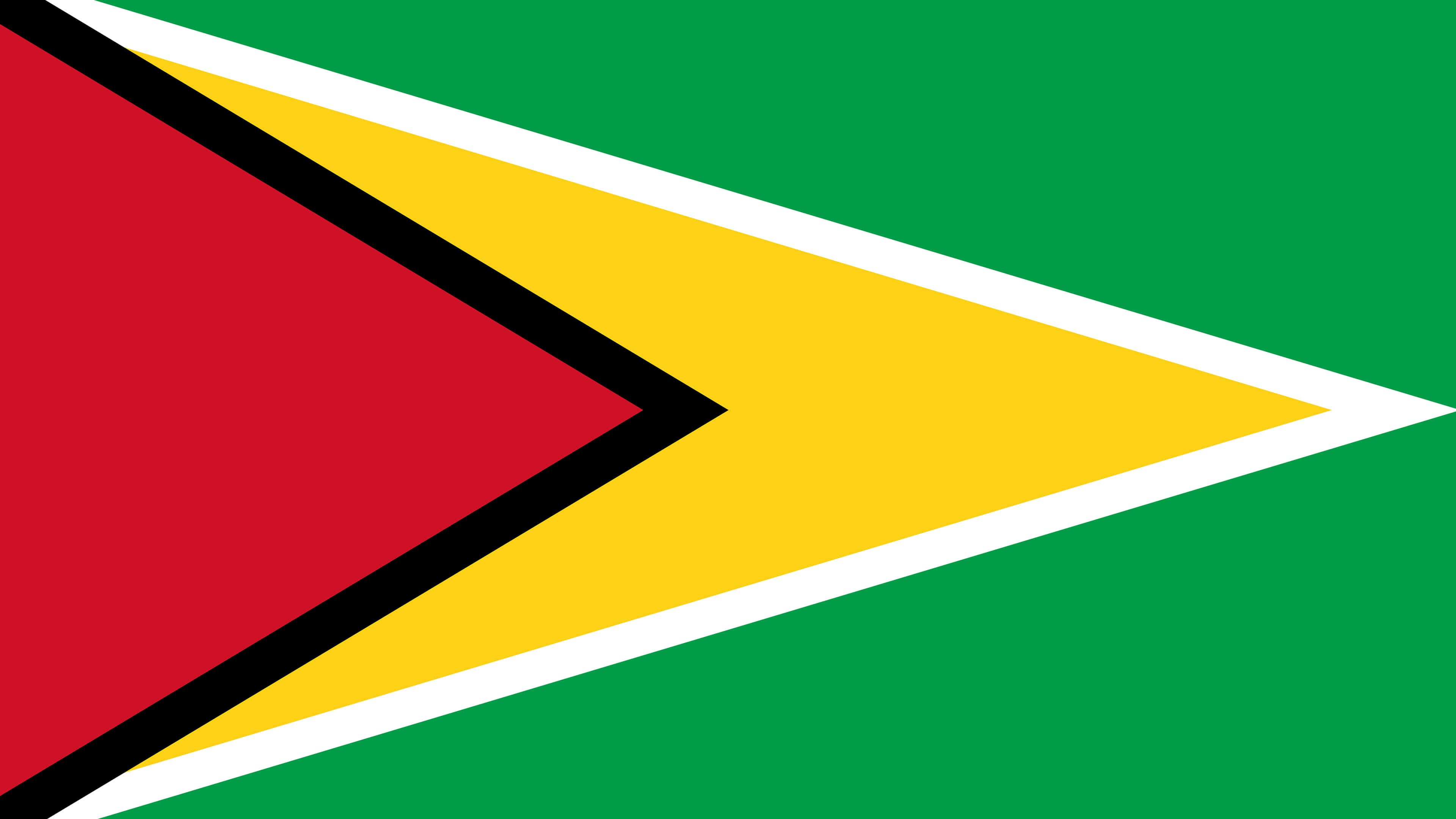 guyana flag uhd 4k wallpaper