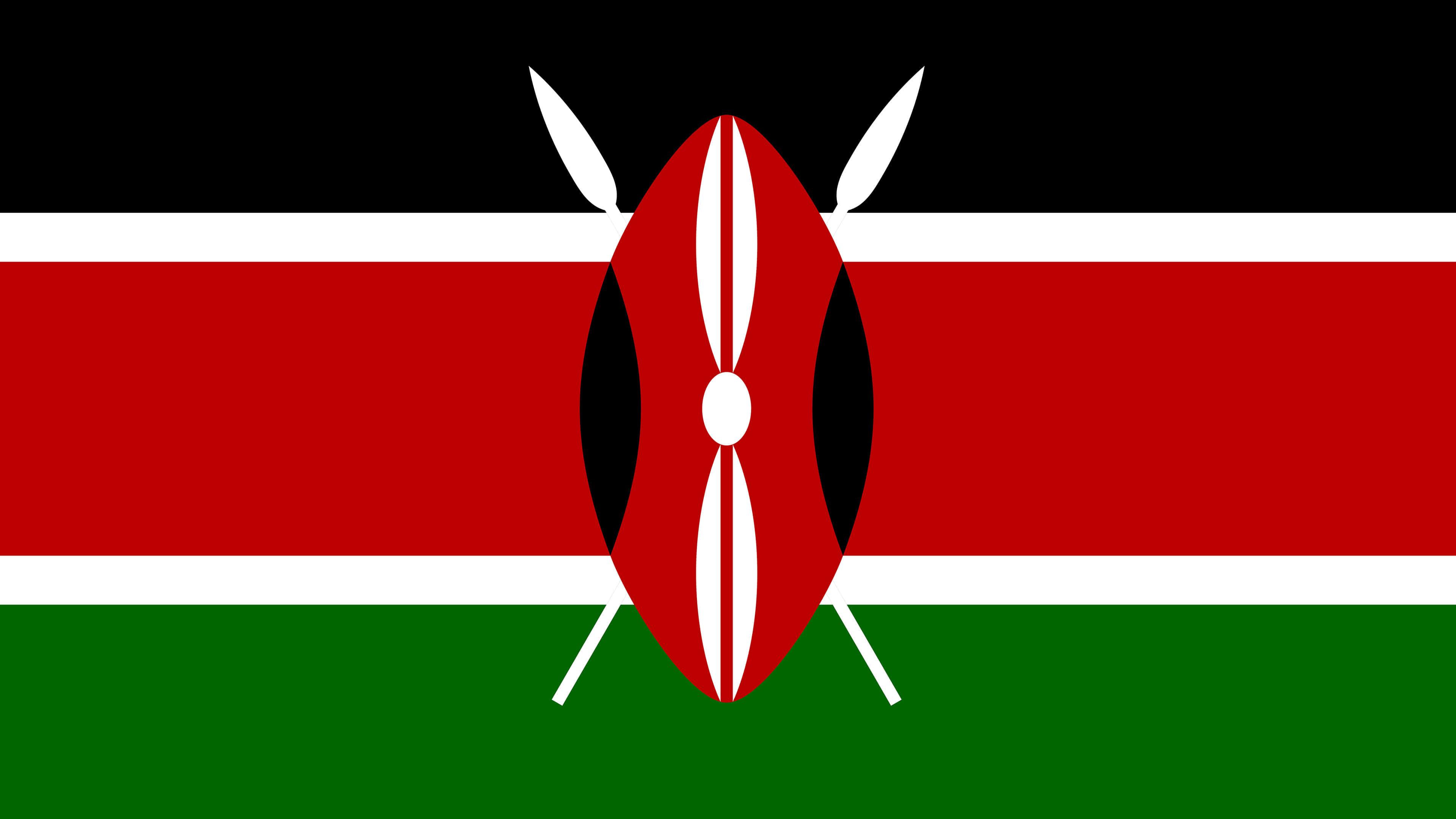 kenya flag uhd 4k wallpaper